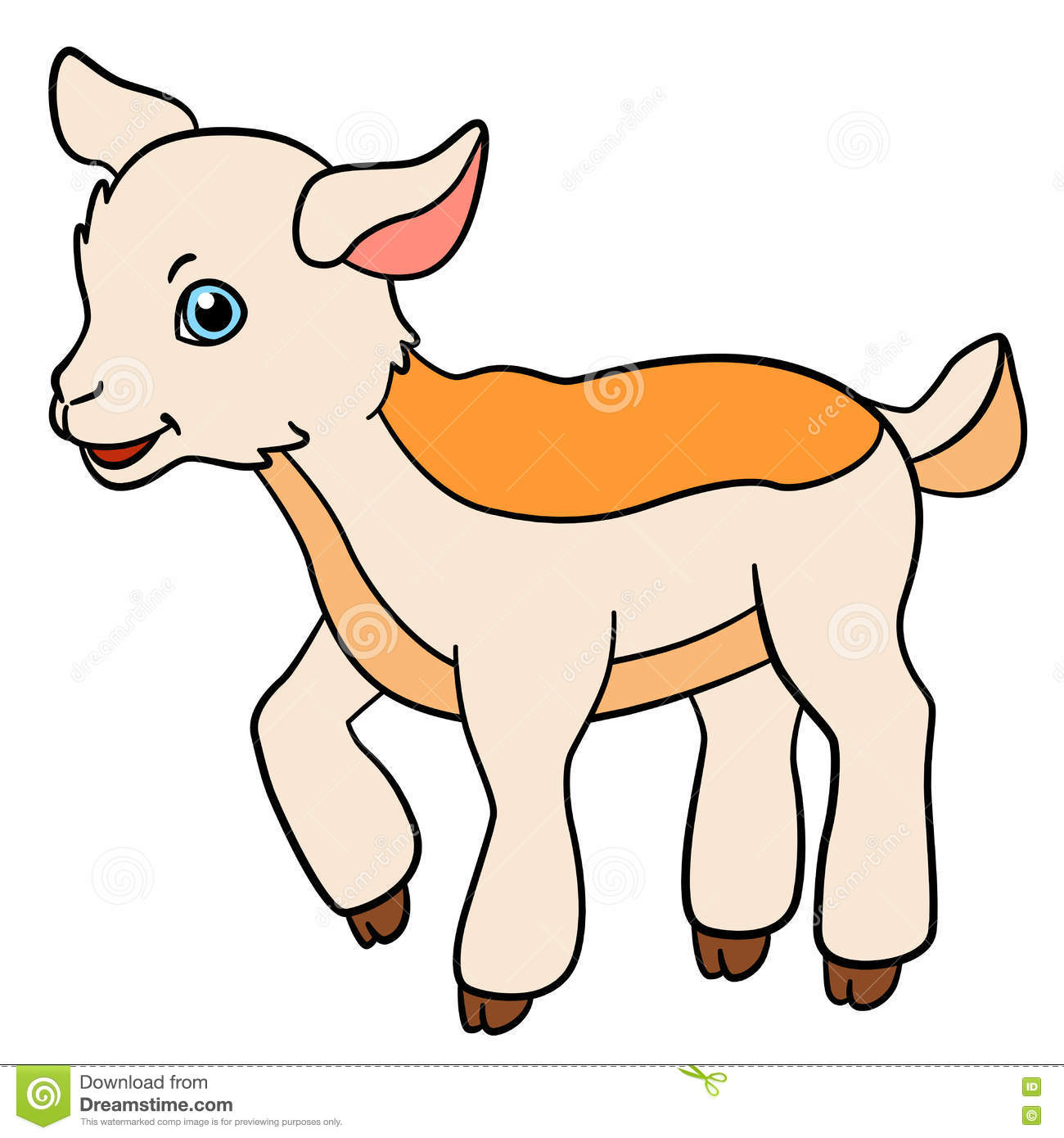 cartoon farm animals for kids little cute baby goat - Pics Of Animals For Kids