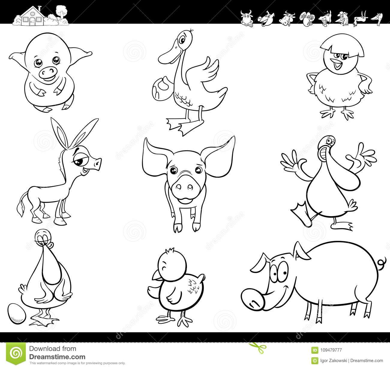 comic barnyard animals coloring pages - photo#43