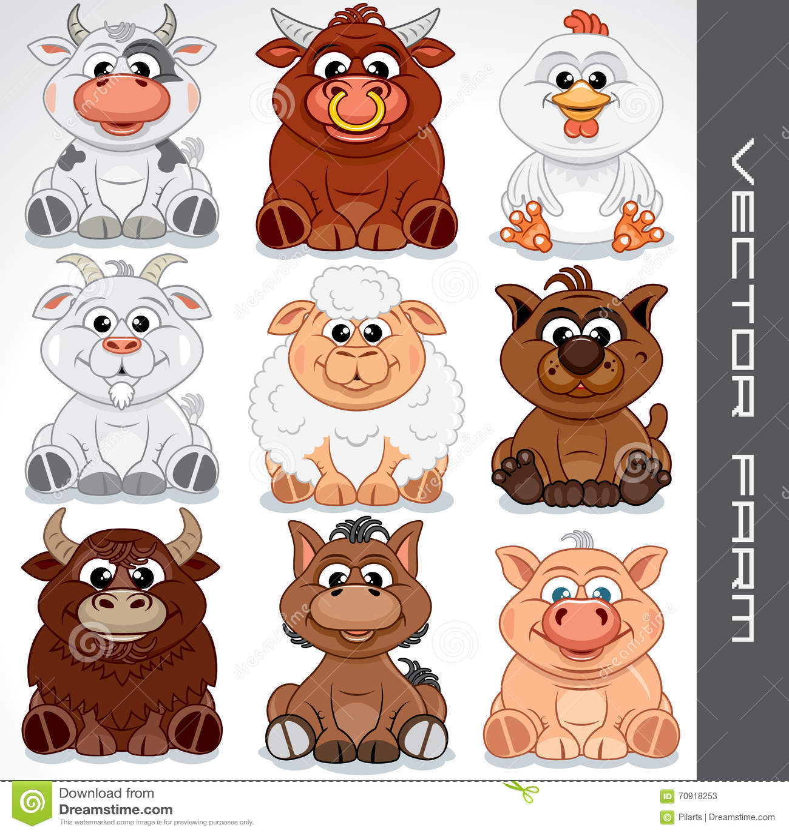 Happy children with farm animals - Download Free Vectors, Clipart Graphics  & Vector Art