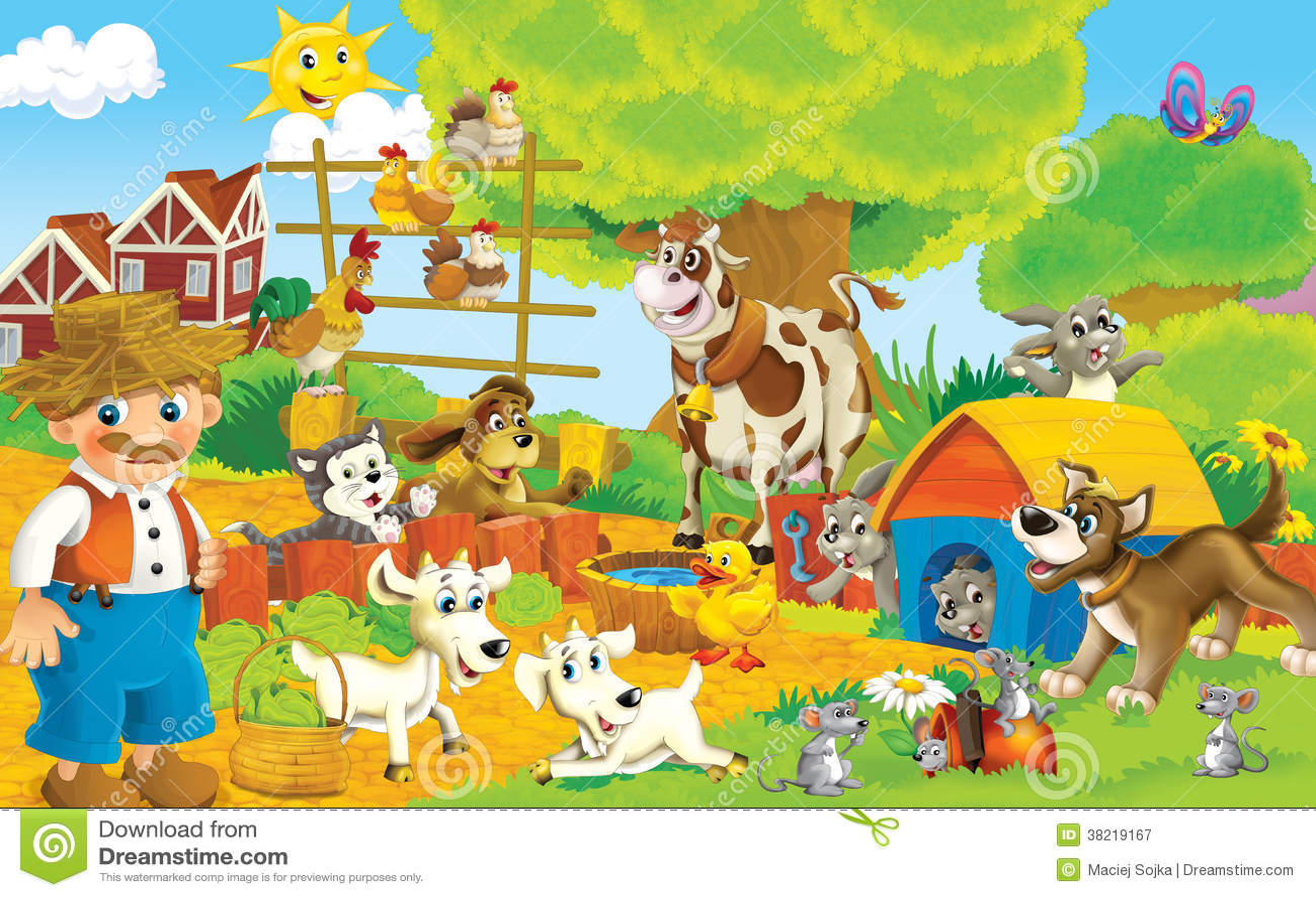 Royalty Free Stock Photography: Cute Cartoon Farm Animals