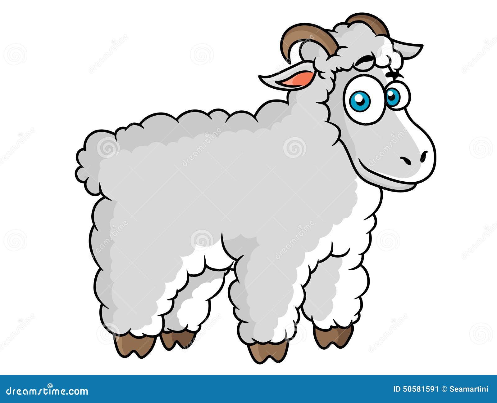Cartoon Farm Sheep Character Stock Vector