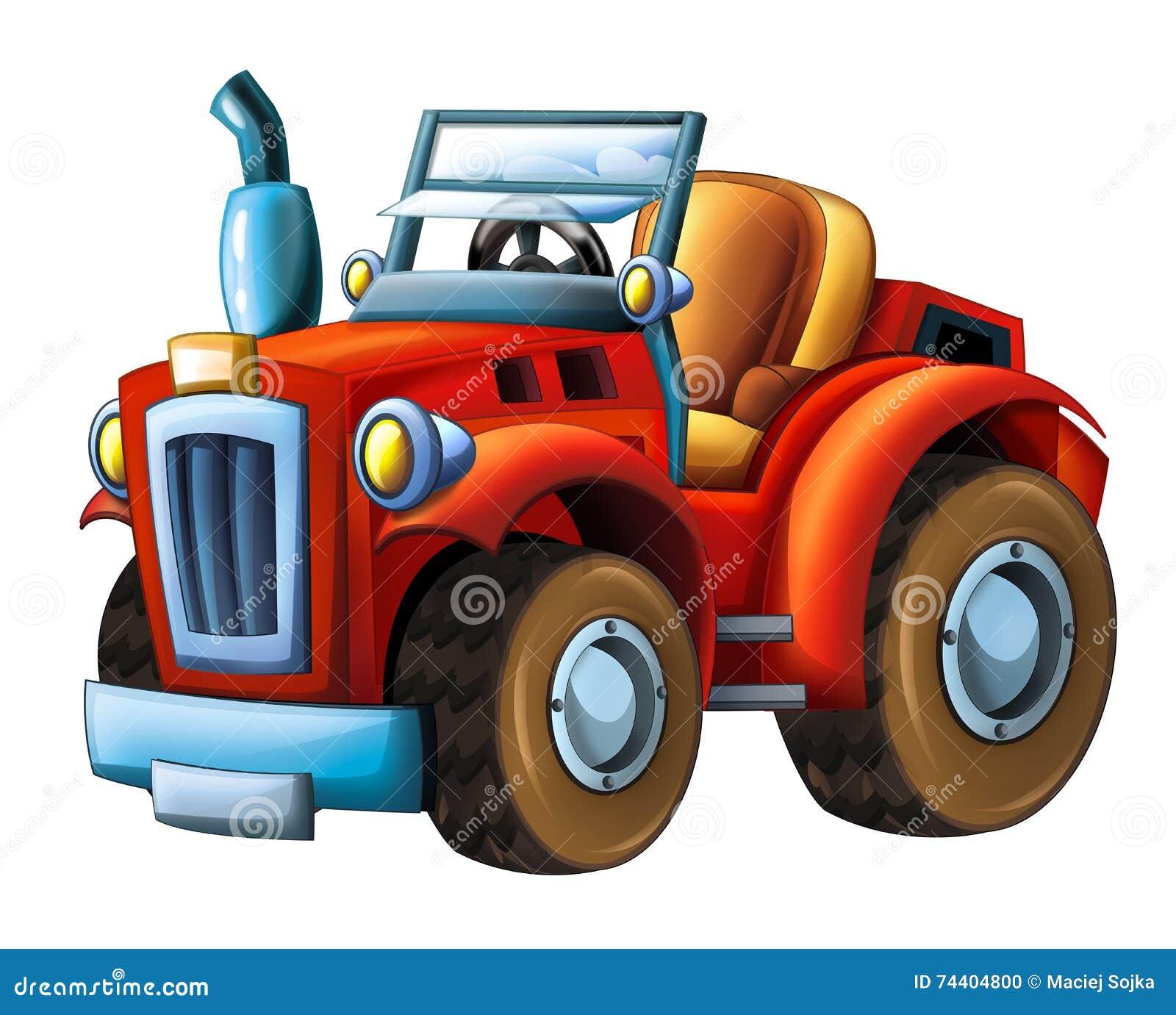 Tractor Cartoon Picker : Cartoon farm tractor stock illustration of