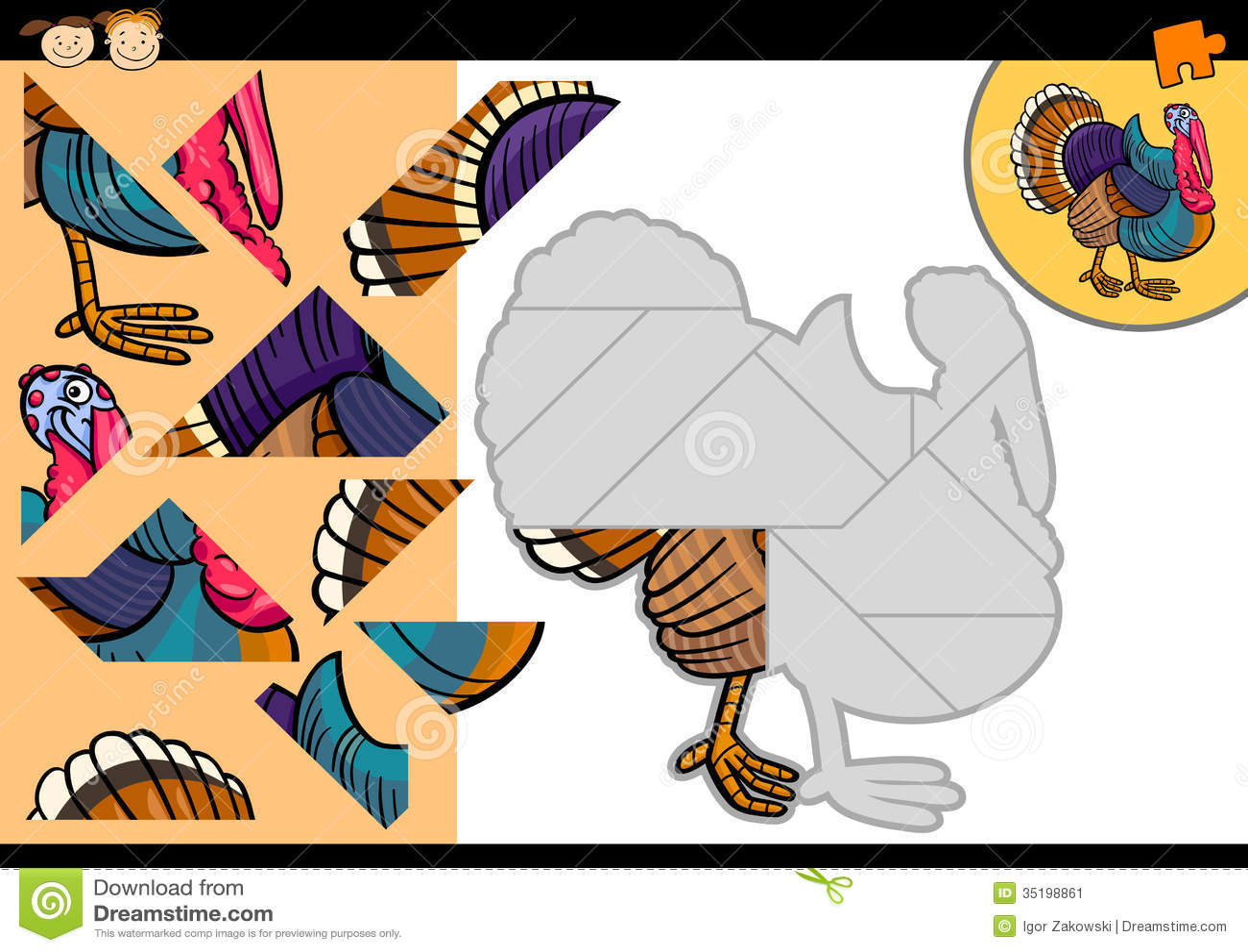 Uncategorized Turkey Puzzle cartoon farm turkey puzzle game stock vector image 35198861 game