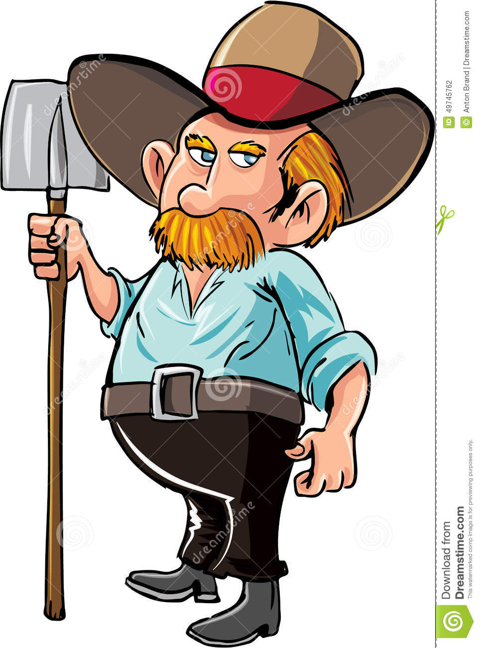 cartoon farmer with moustache and hat stock illustration mustache clip art mustache clipart black and white