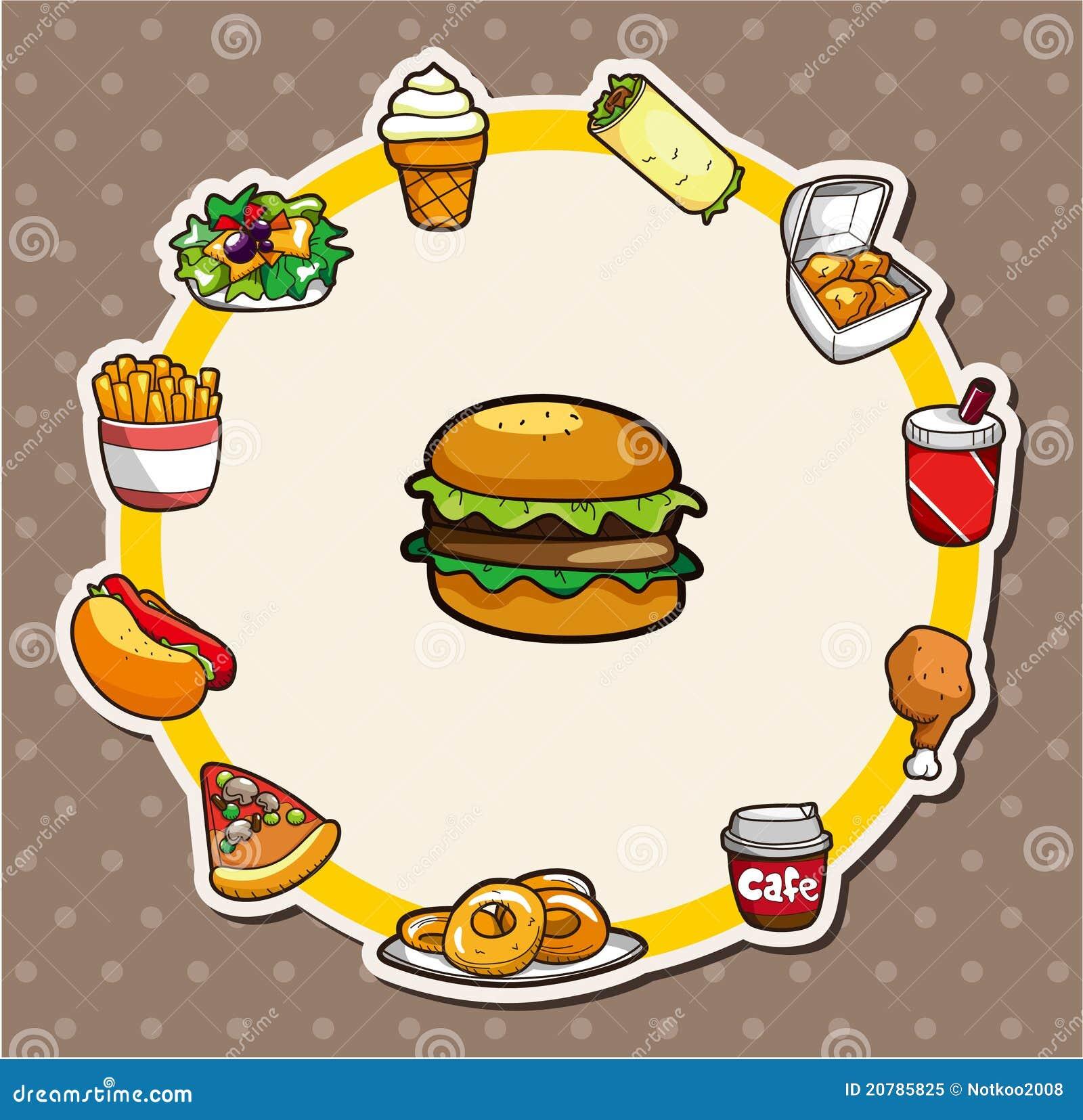 Cartoon Fast-food Card Royalty Free Stock Photo