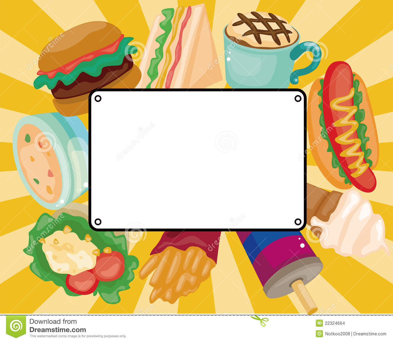 Cartoon Fast-food Card Stock Images - Image: 22324664