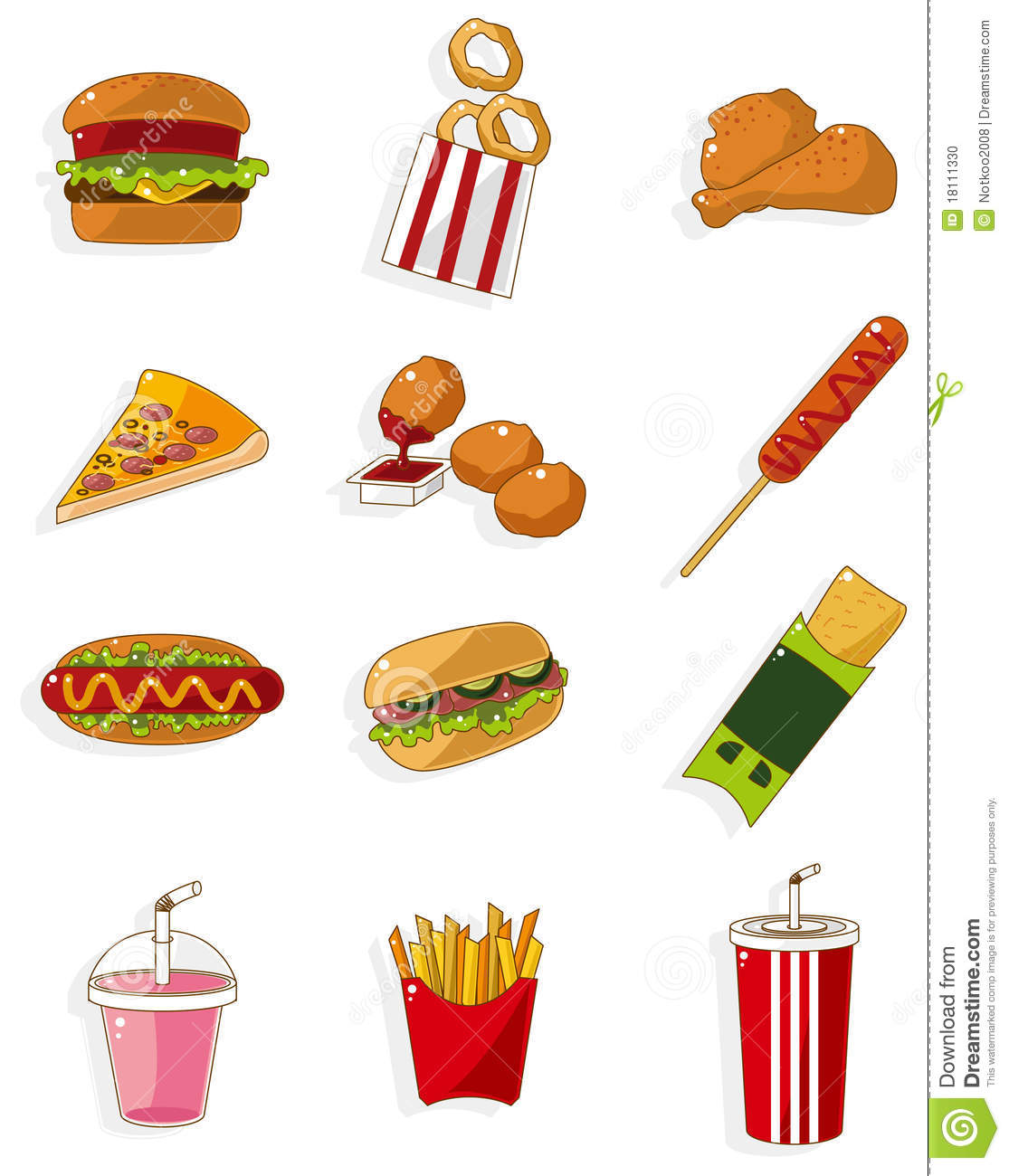 Cartoon hamburger fast food cartoon fast food cartoon cartoon pictures - Cartoon Fast Food Icon Stock Vector Image Of Dessert