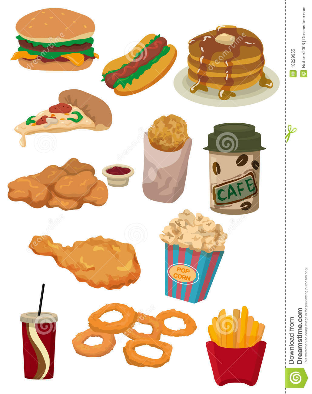 Cartoon fast food icon stock vector illustration of for Animation cuisine