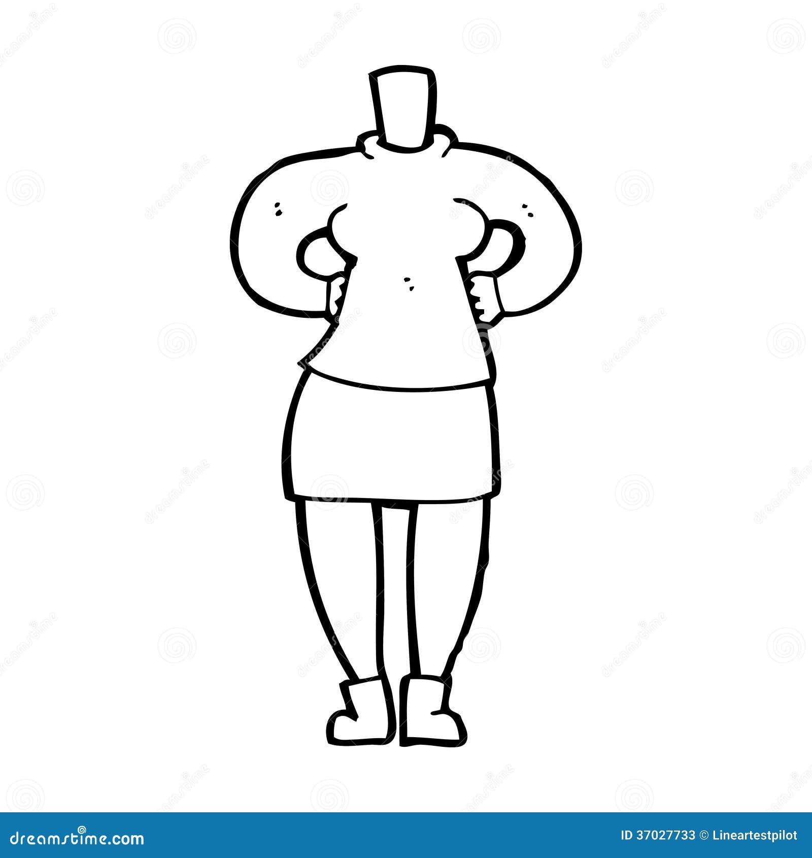 Full Body Cartoon Women Drawings