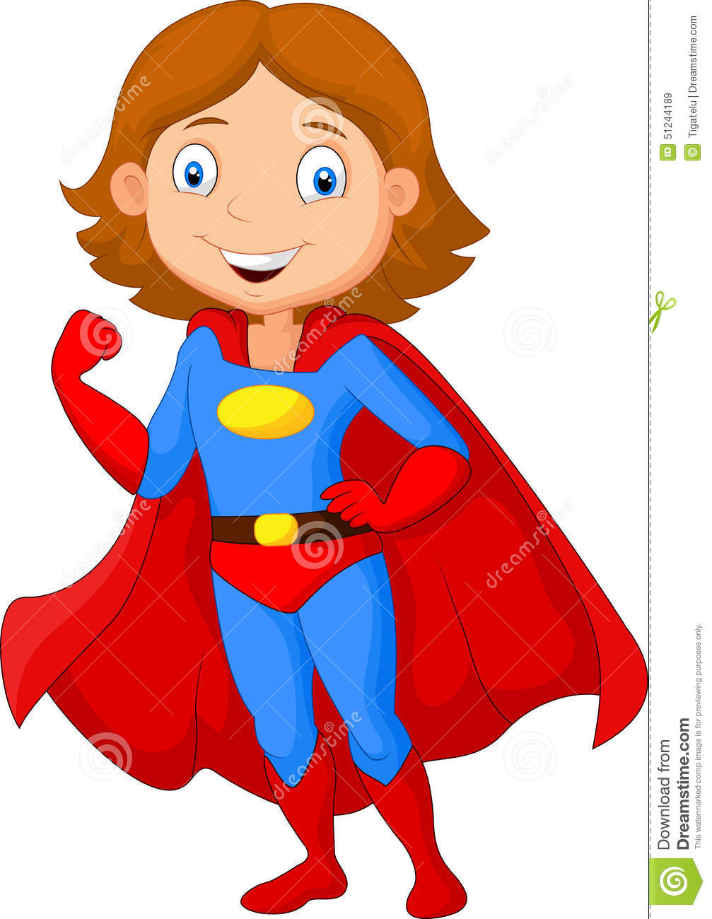 Cartoon female super hero posing stock vector - Superhero dessin ...