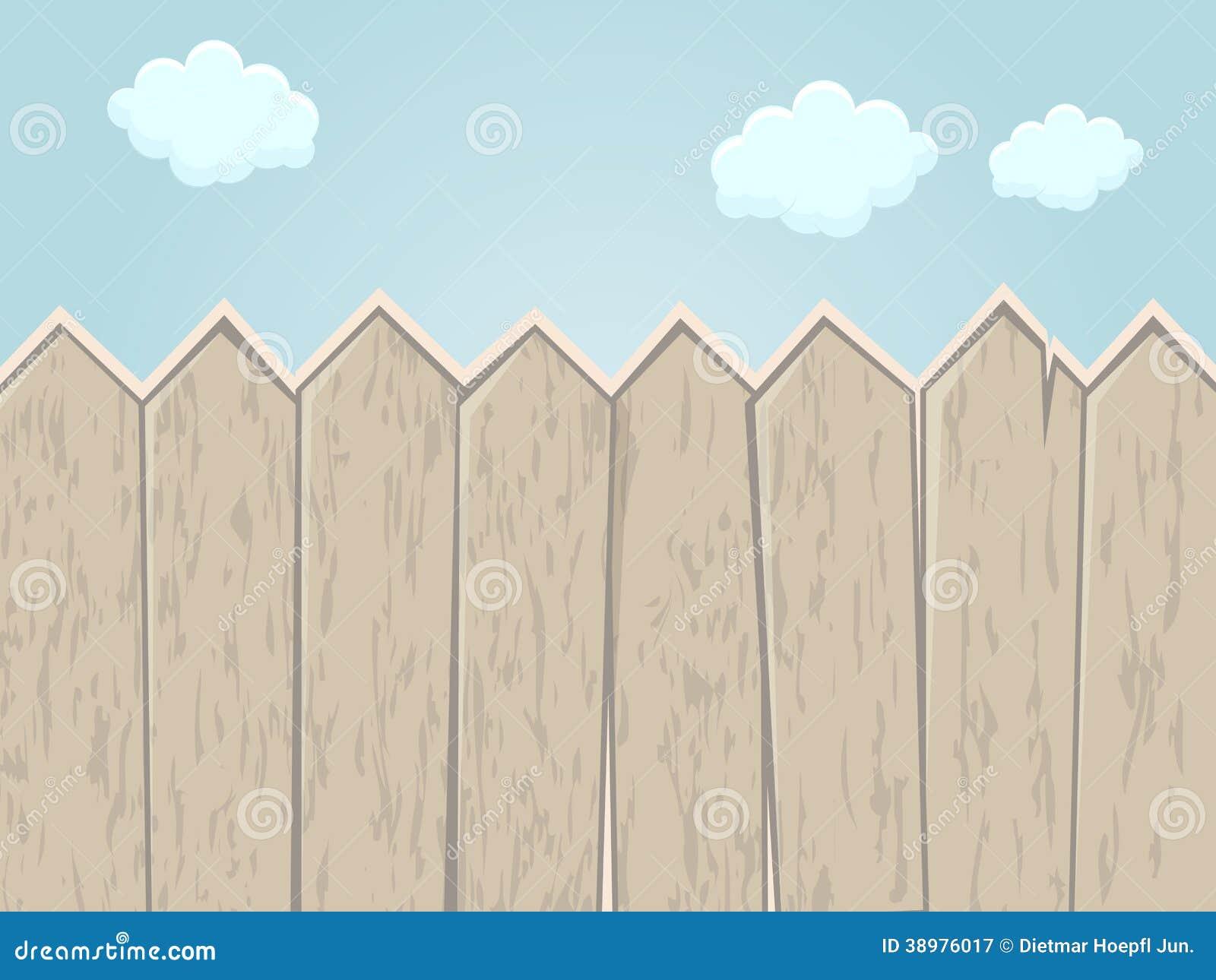 Cartoon fence stock vector image of empty