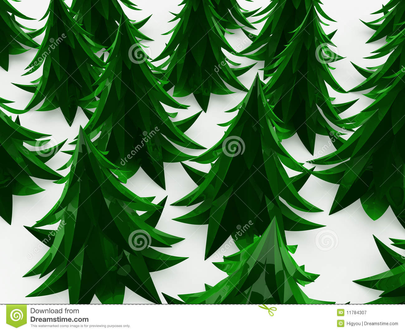 Cartoon Fir Forest Royalty Free Stock Photography - Image: 11784307: dreamstime.com/royalty-free-stock-photography-cartoon-fir-forest...