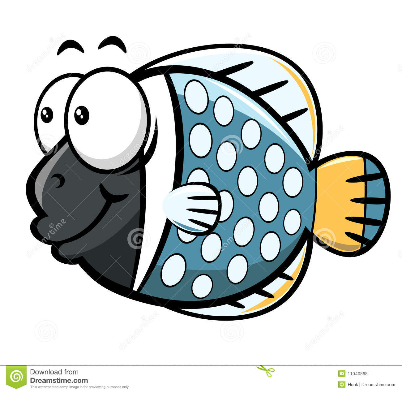 Illustration of cartoon fish on the white background,vector ...