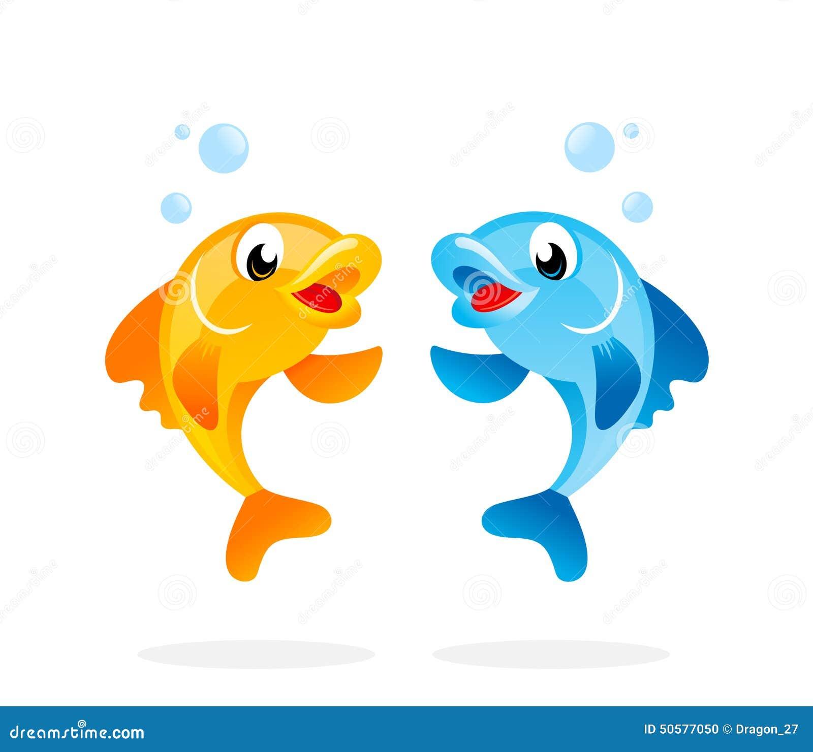 Cartoon Fish Characters. Stock Vector. Image Of Character