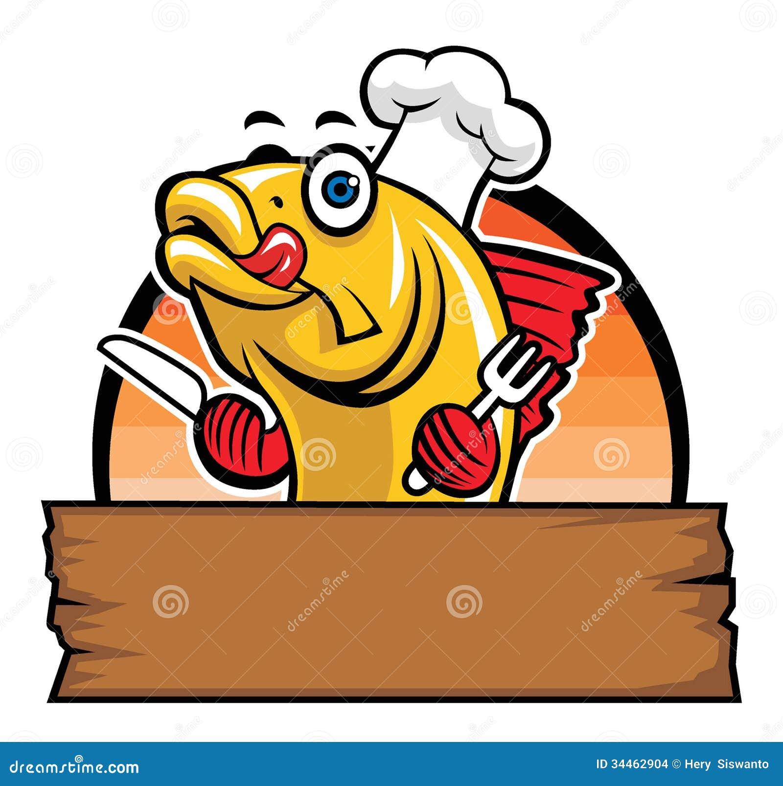 Cartoon restaurant free vector graphic download - Cartoon Chef Fish Mascot Restaurant