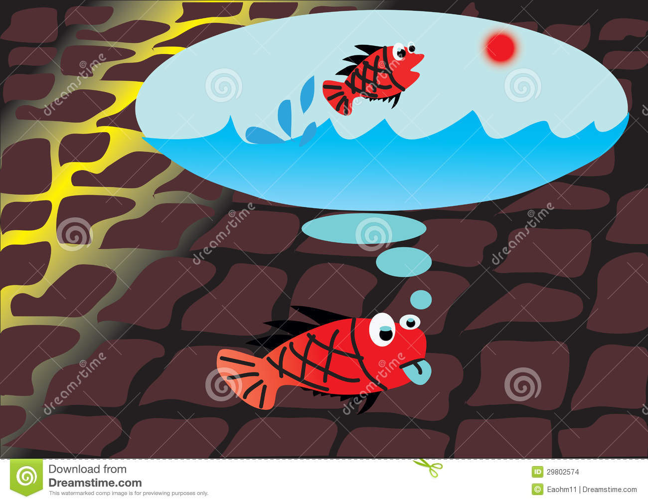 Cartoon fish dreams stock images image 29802574 for Dream about fish out of water