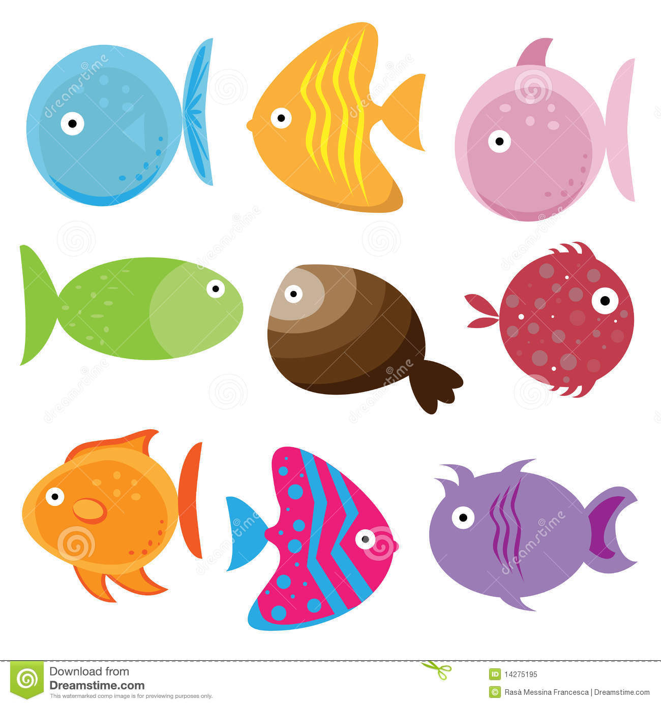 cartoon fishes royalty free stock photo image 14275195