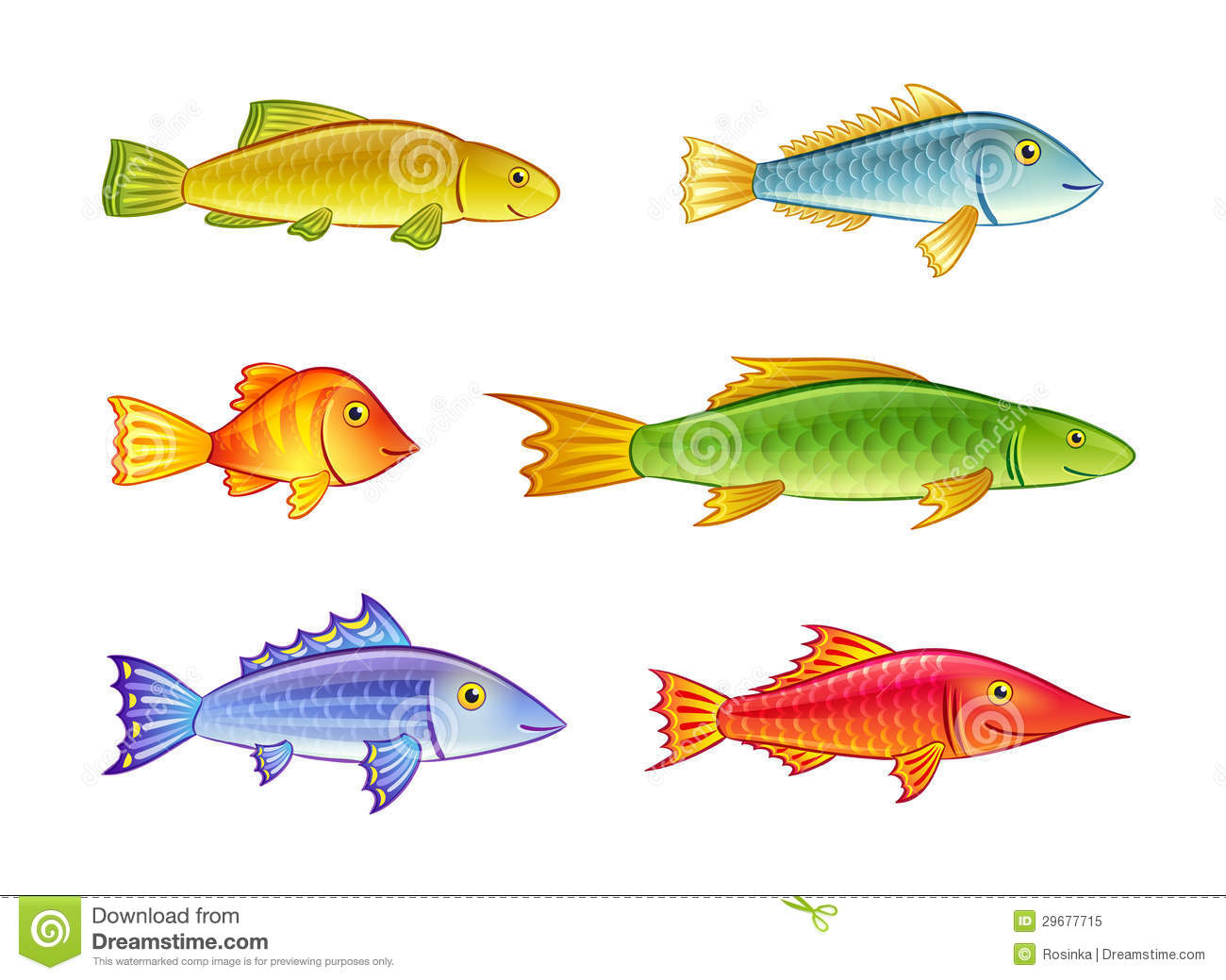 Cartoon fishes stock vector image of smile fauna for 7 fishes list