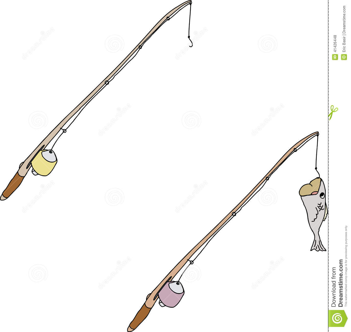 Cartoon fishing poles stock vector image 41426448 for Pictures of fishing poles