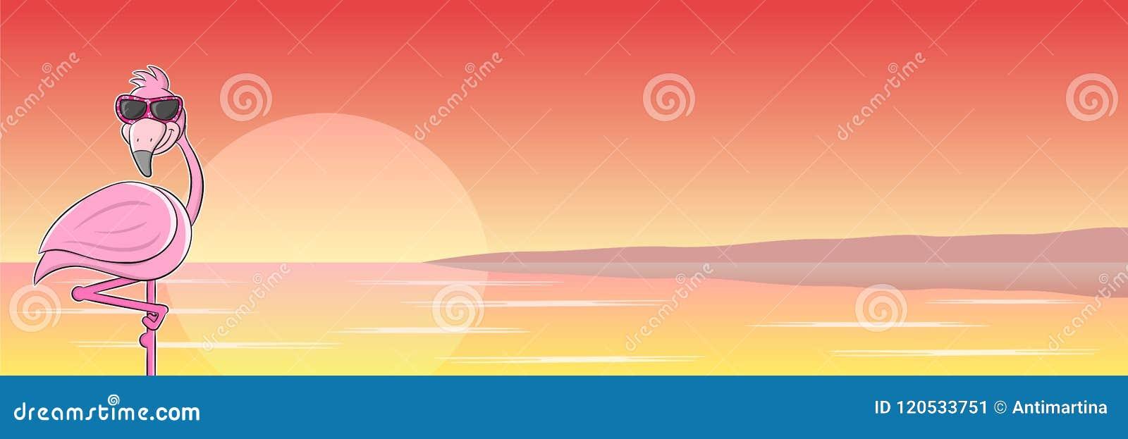be115212da73 Vector illustration of a cartoon flamingo with sunglasses. More similar  stock illustrations