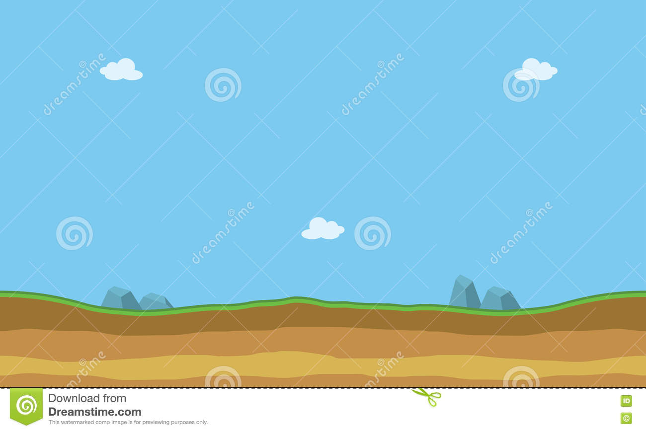 cartoon flat landscape for game backgrounds stock vector