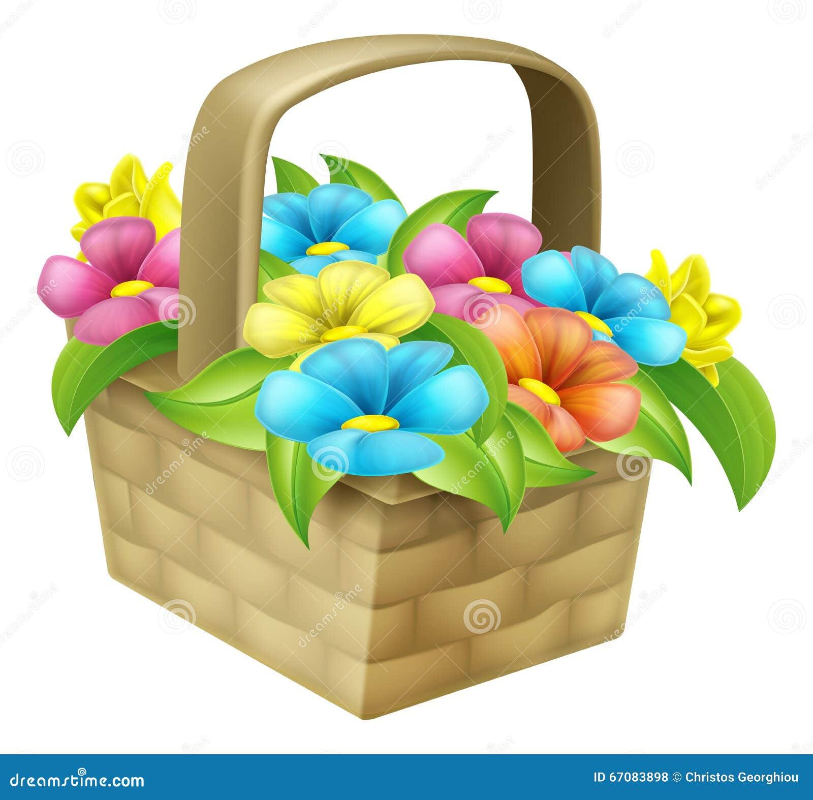 Cartoon floral basket stock vector illustration of greeting 67083898 cartoon floral basket izmirmasajfo