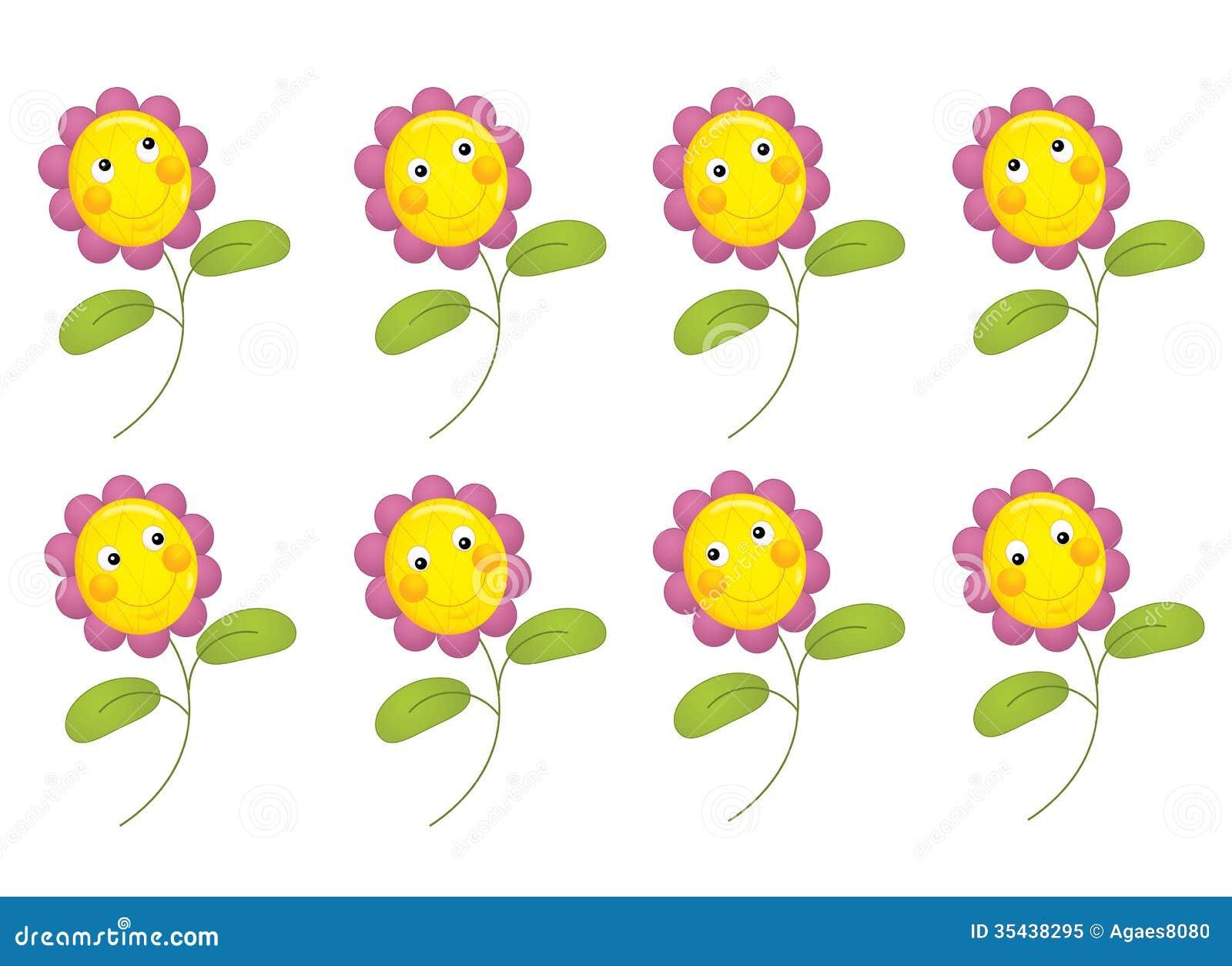 Cartoon flower isolated illustration stock illustration beautiful cartoon flower illustration for children izmirmasajfo