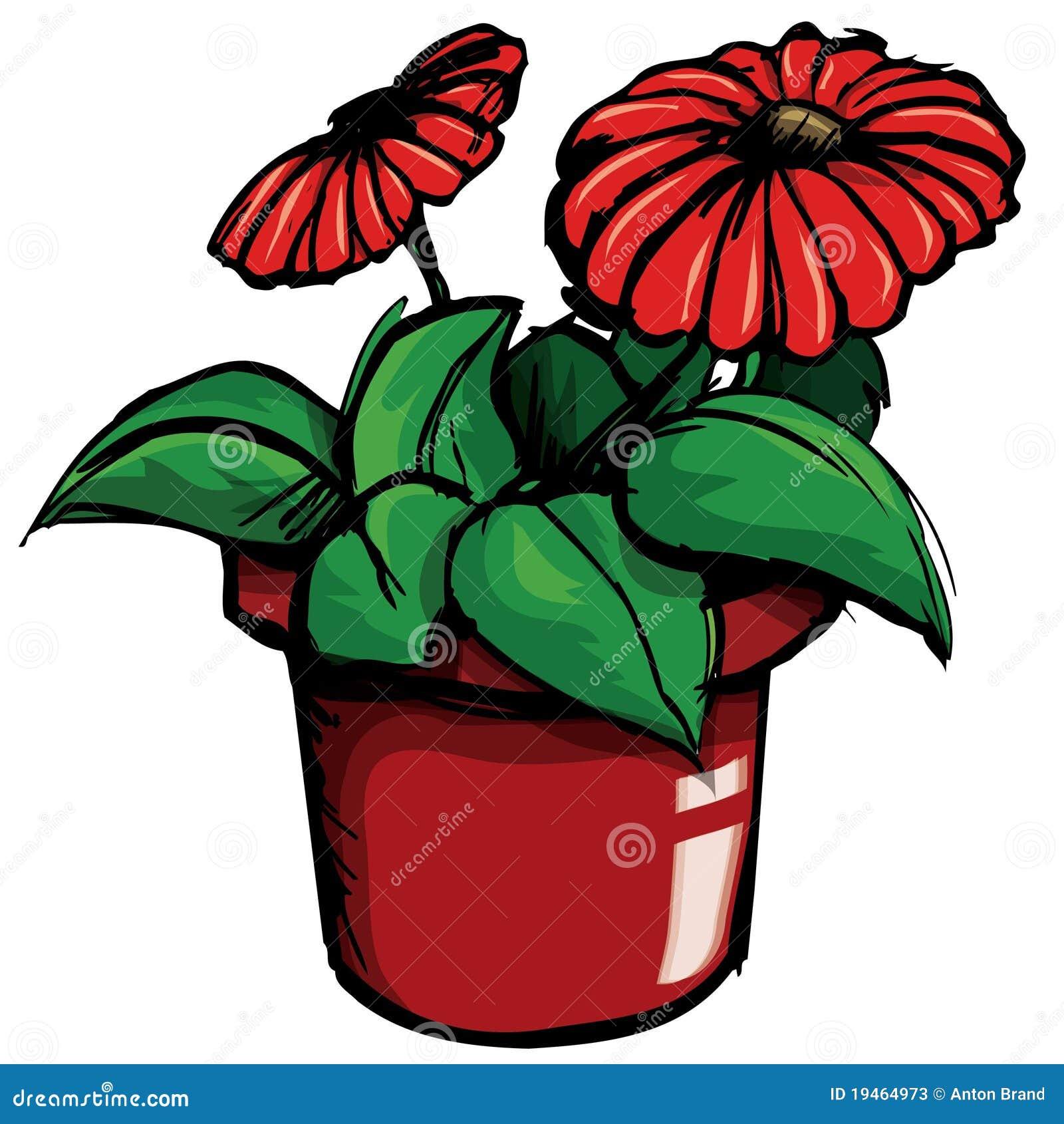 Cartoon Of Flower Pot Stock Vector Illustration Of Spring 19464973