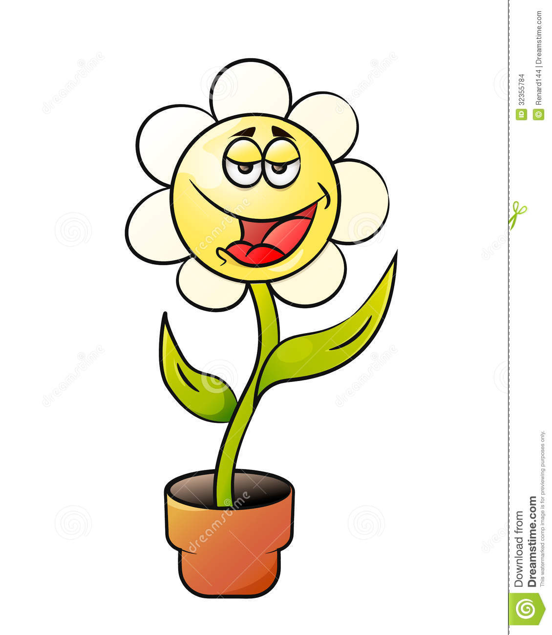 Cartoon Flower In A Pot Stock Images - Image: 32355784