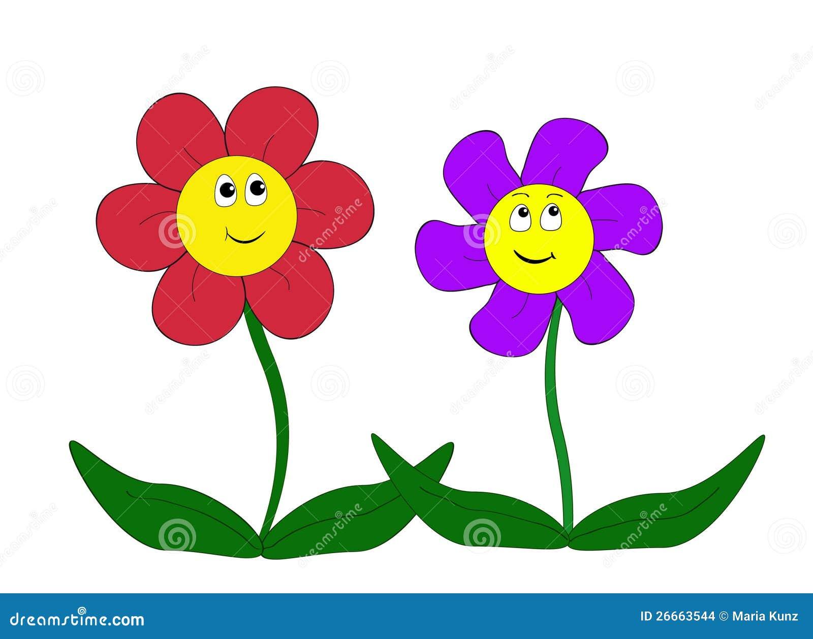 Cartoon Flowers Stock Image