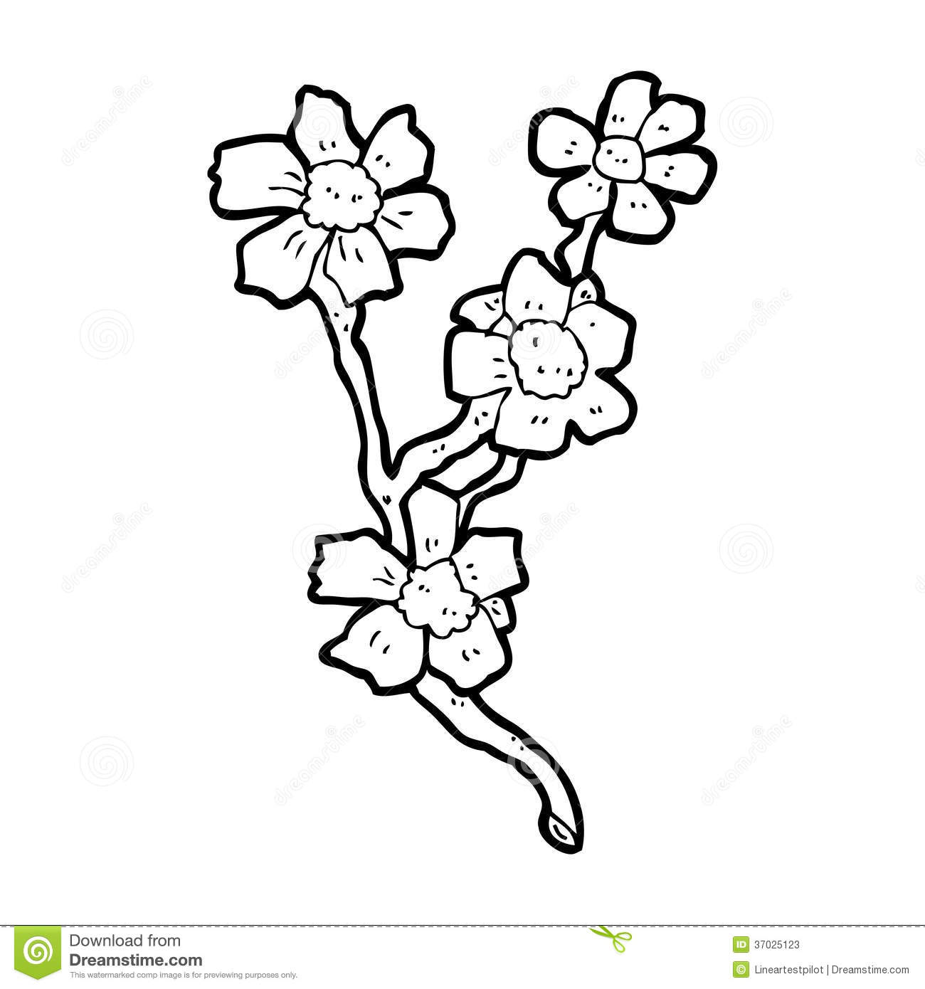 Cartoon Flowers Stock Illustration Illustration Of Drawing 37025123