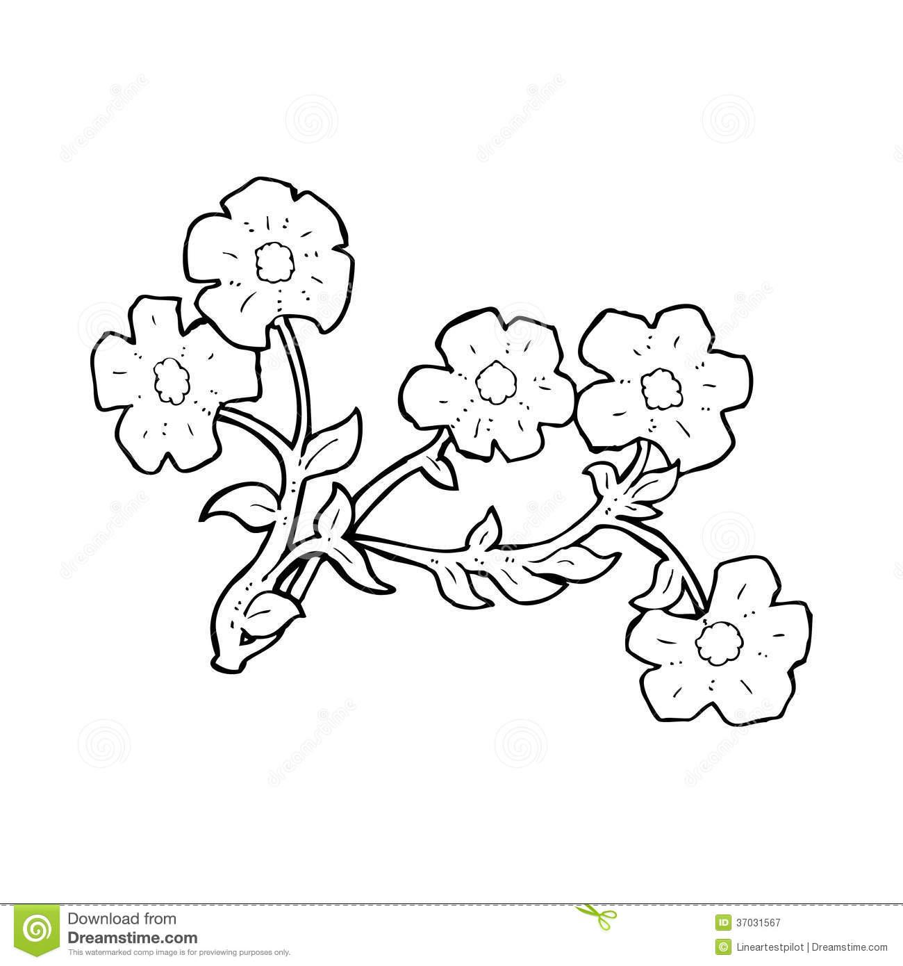 Cartoon Flowers Stock Illustration Illustration Of Simple 37031567