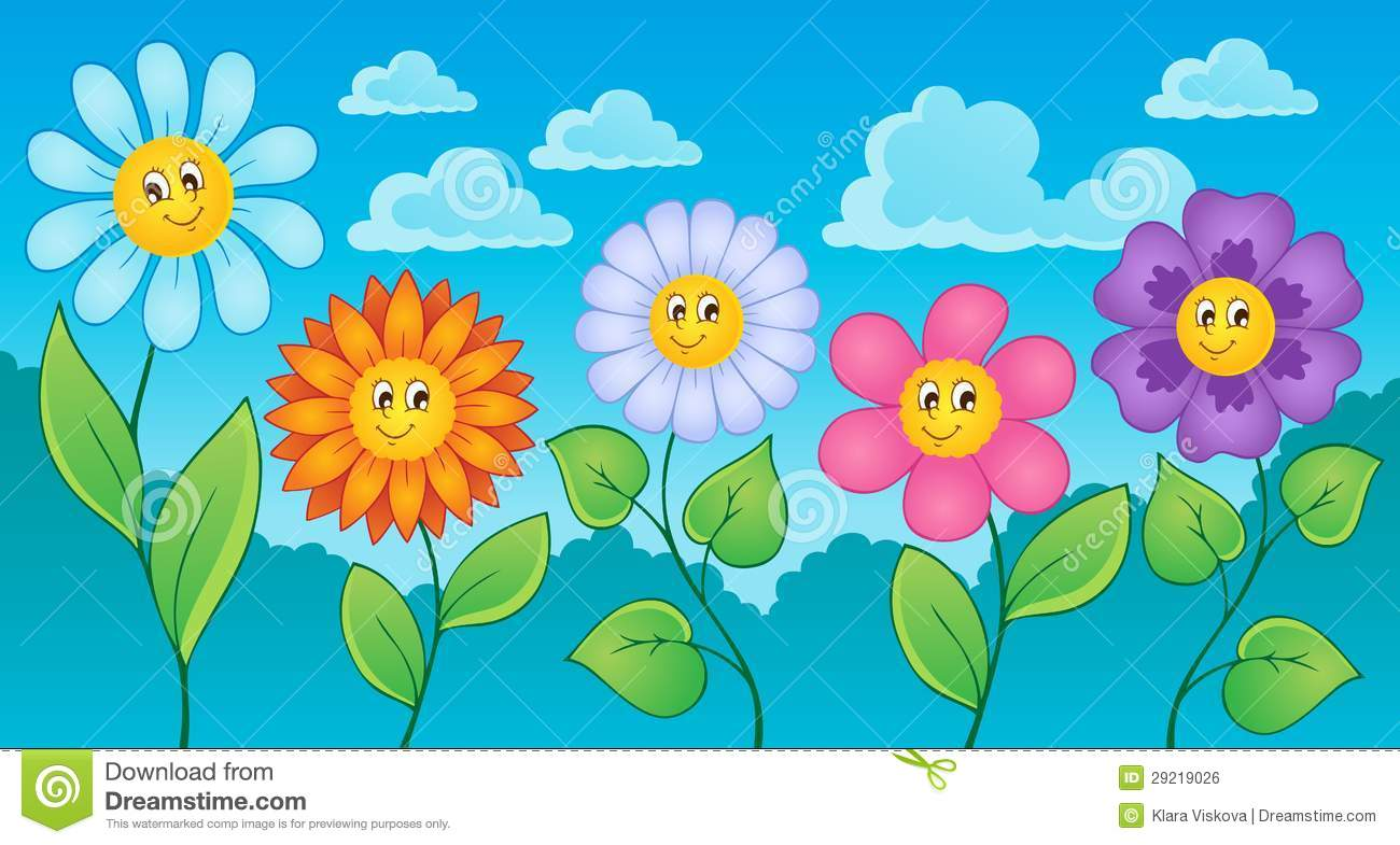 Image Result For Flower Garden Cartoon