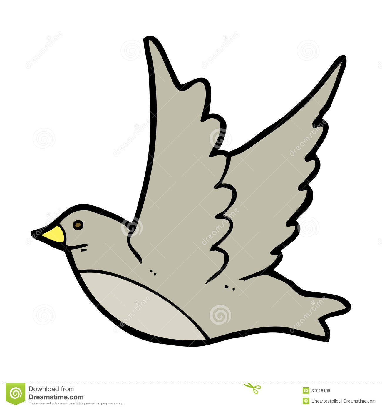 Cartoon Flying Bird Royalty Free Stock Images Image