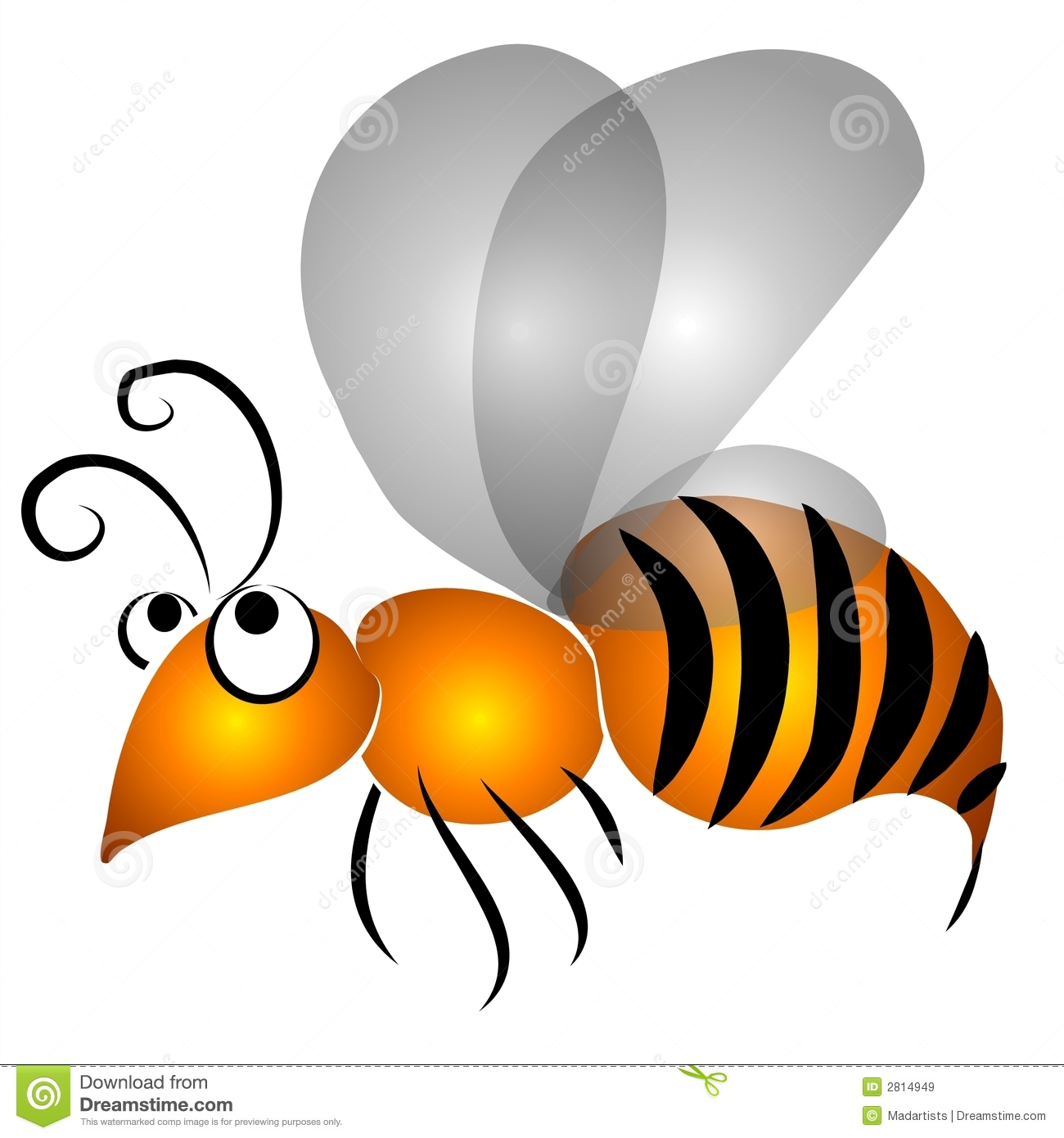 Cartoon Flying Wasp Clip Art Royalty Free Stock Images Image