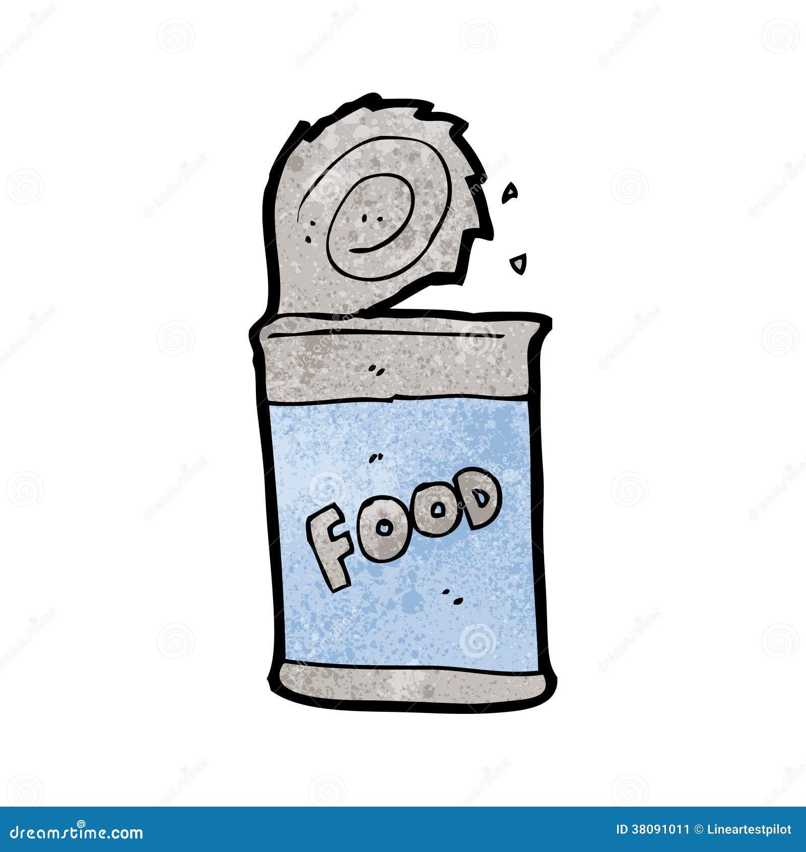 Cartoon Food Can Stock Image - Image: 38091011
