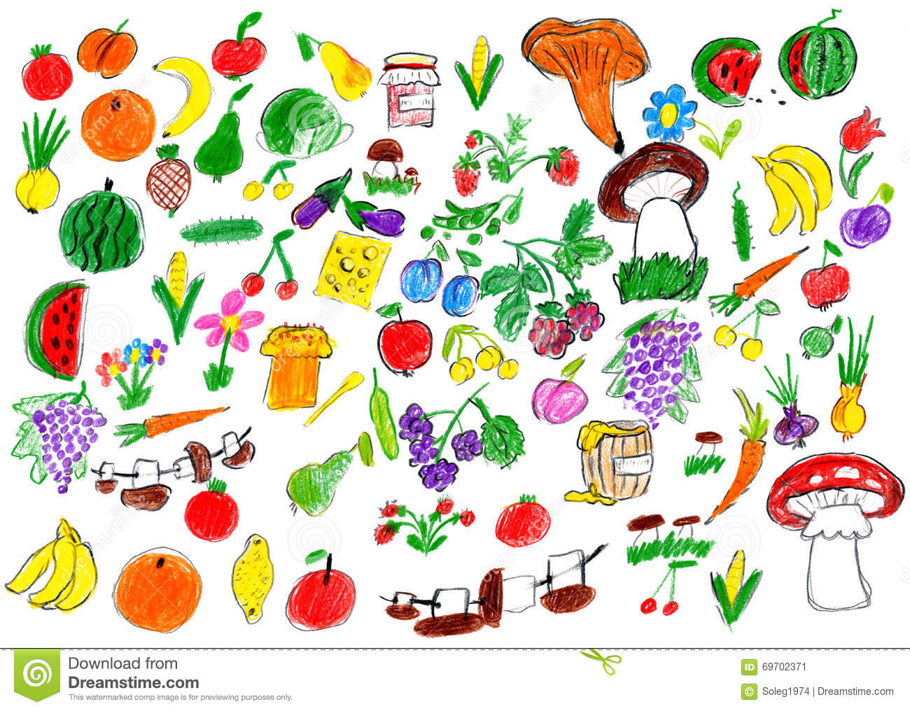 Fruit and Vegetables in Many Languages  EnchantedLearningcom