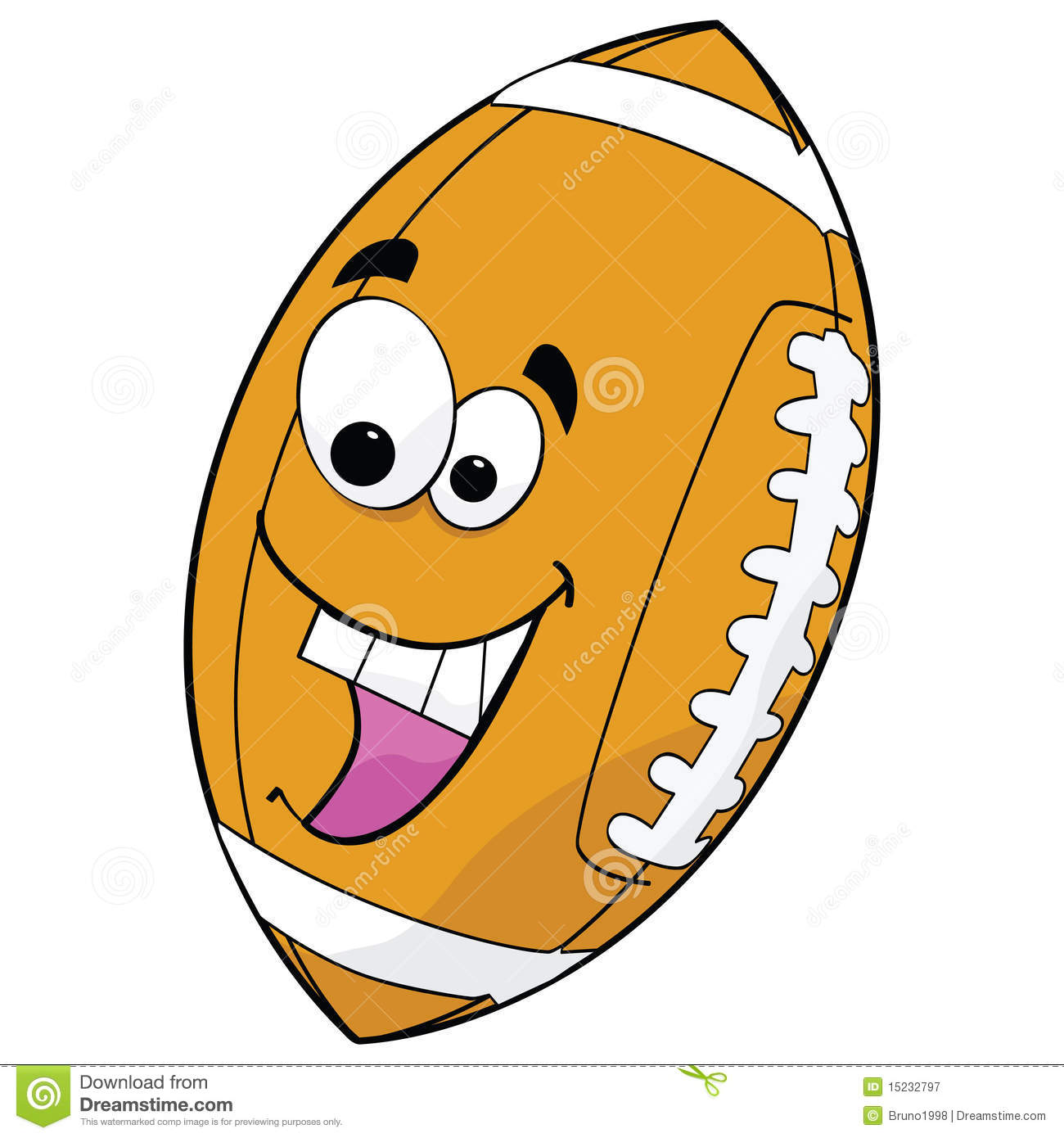 Cartoon Football Royalty Free Stock Photography - Image: 15232797