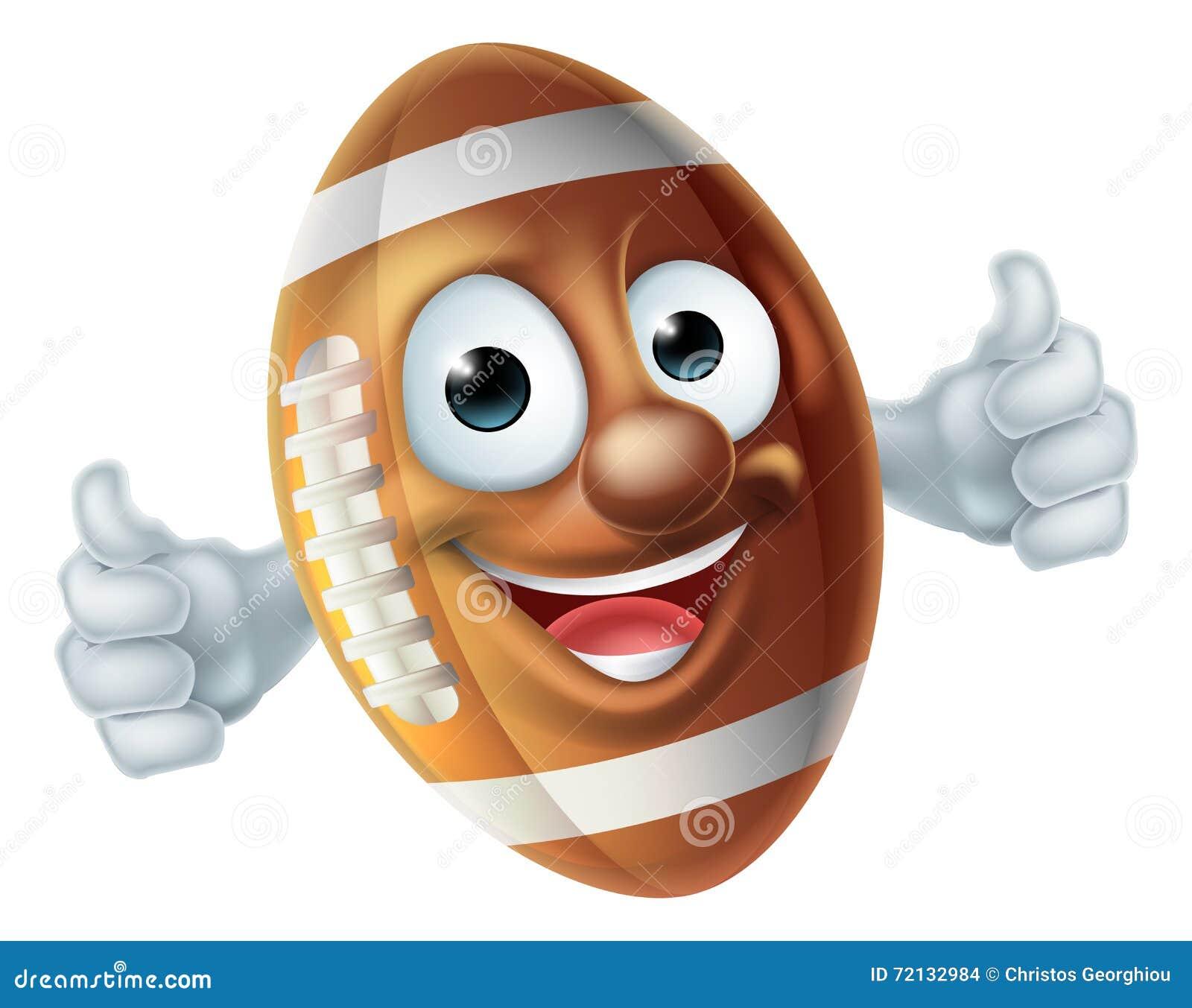 Football mascot cartoon American football ball man character doing a ...