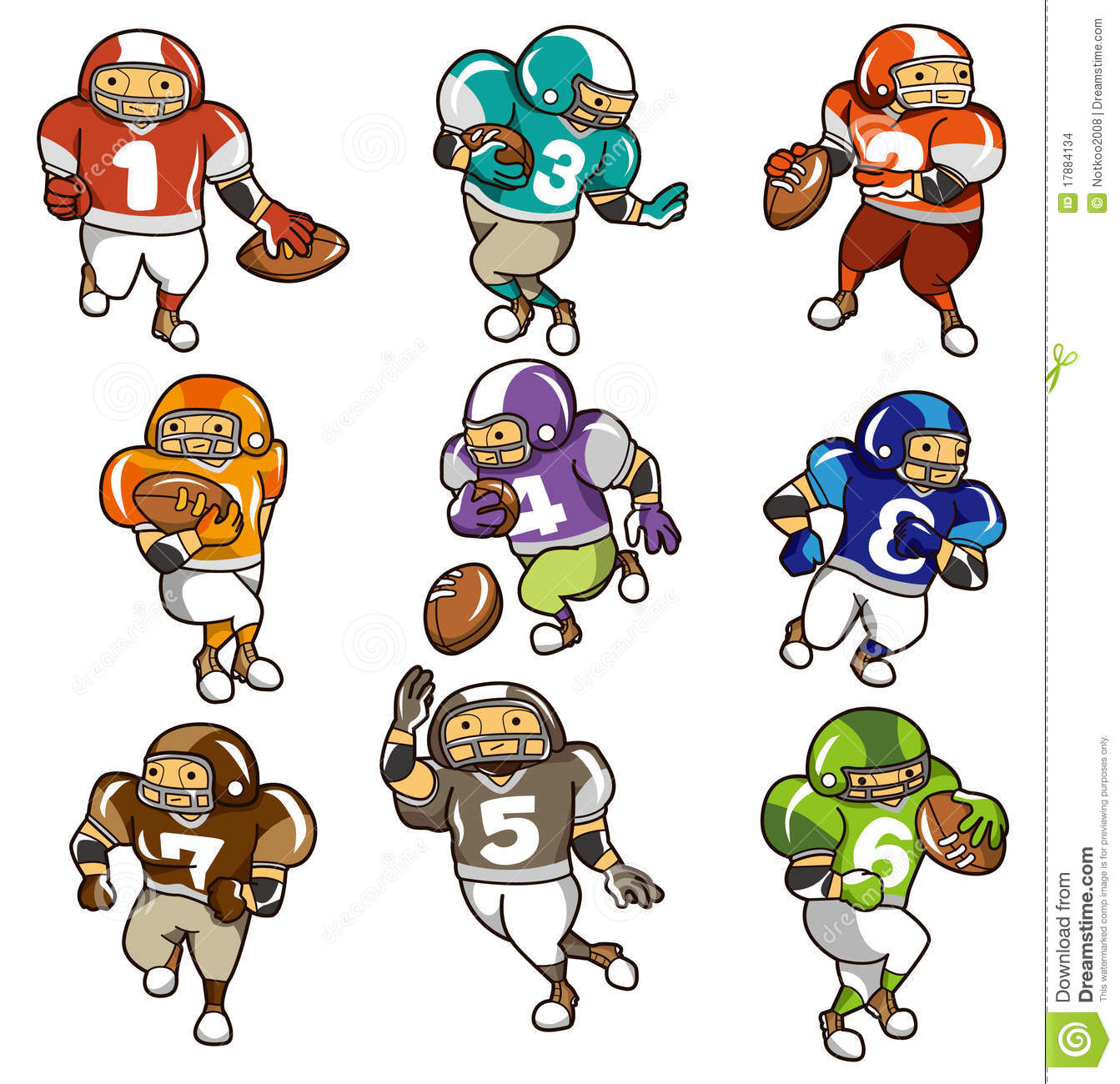 royalty free stock photo download cartoon football player
