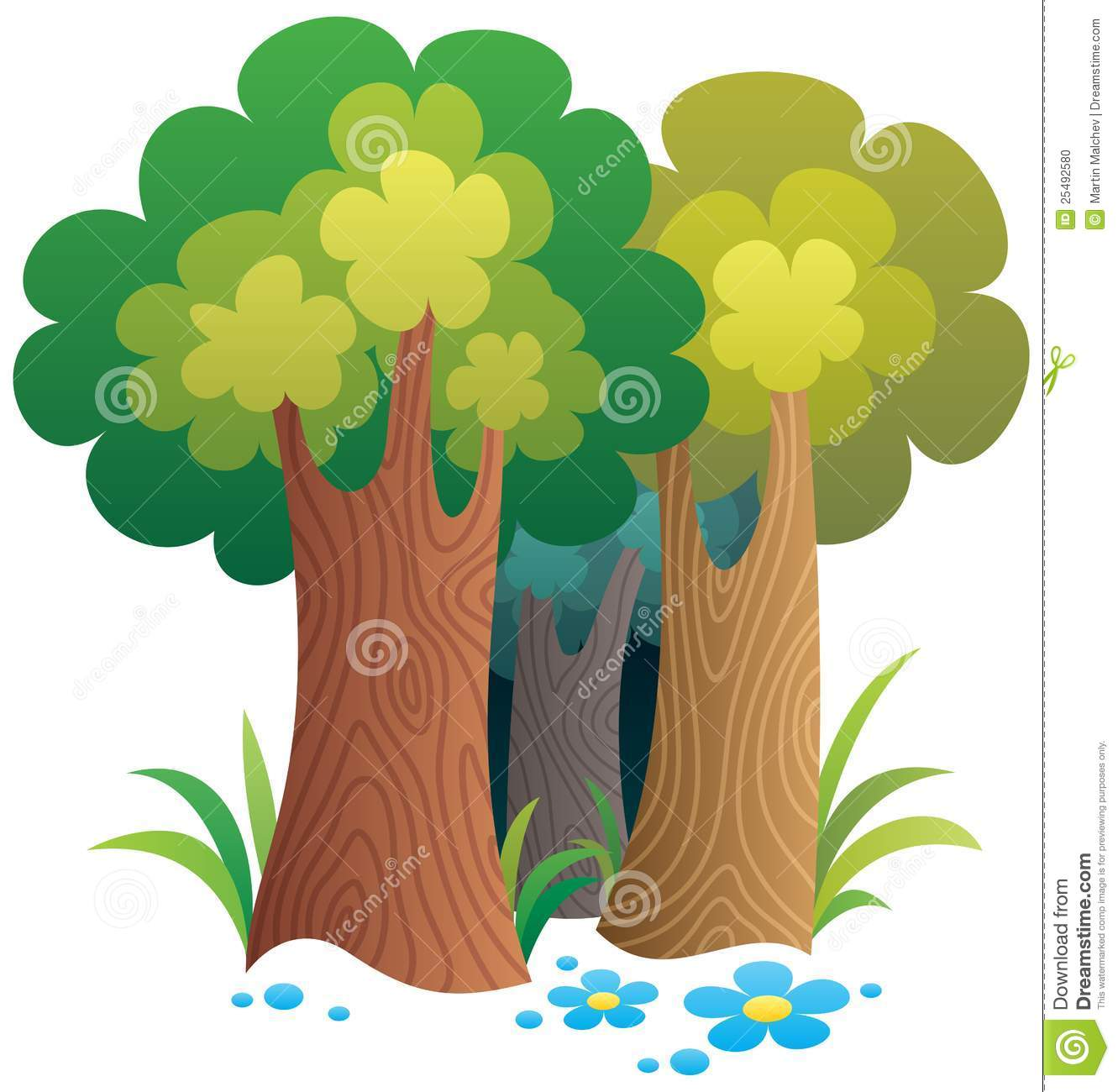 Cartoon Forest stock vector. Image of forest, grass ...