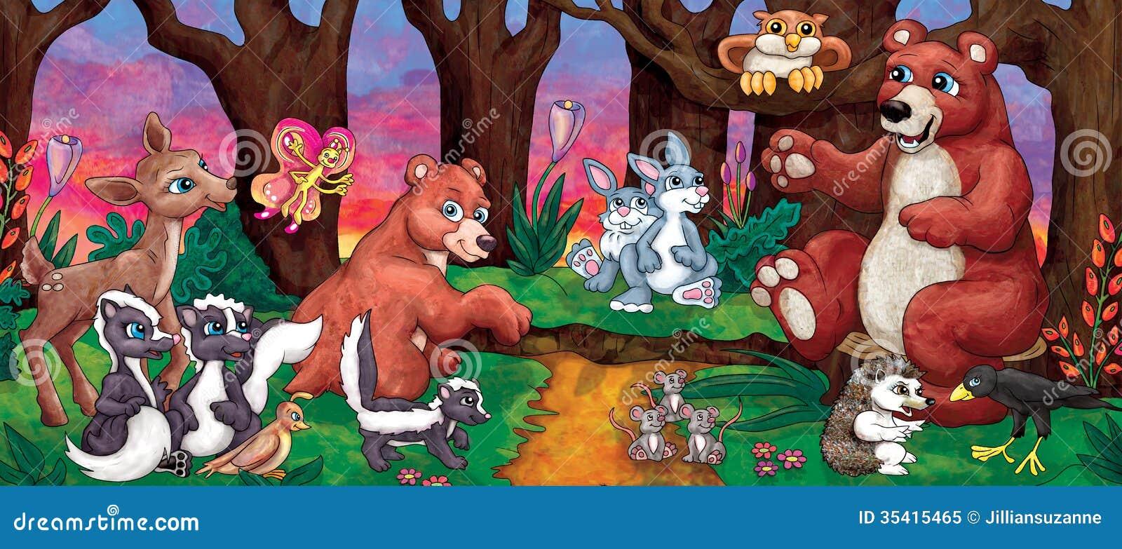 Cartoon Forest Animals Royalty Free Stock Photo Image 35415465