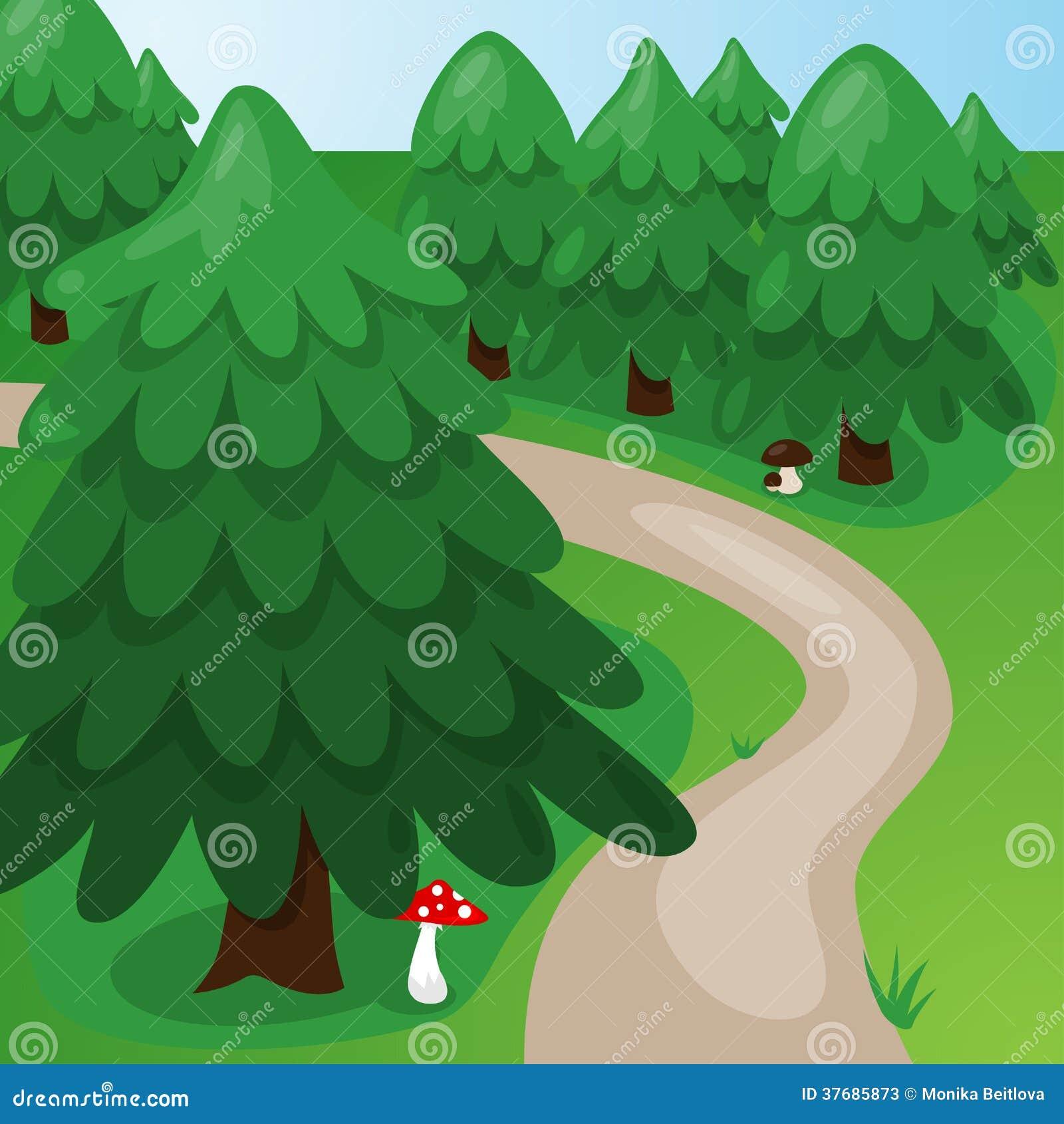 Cartoon Forest Background Stock Photos - Image: 37685873