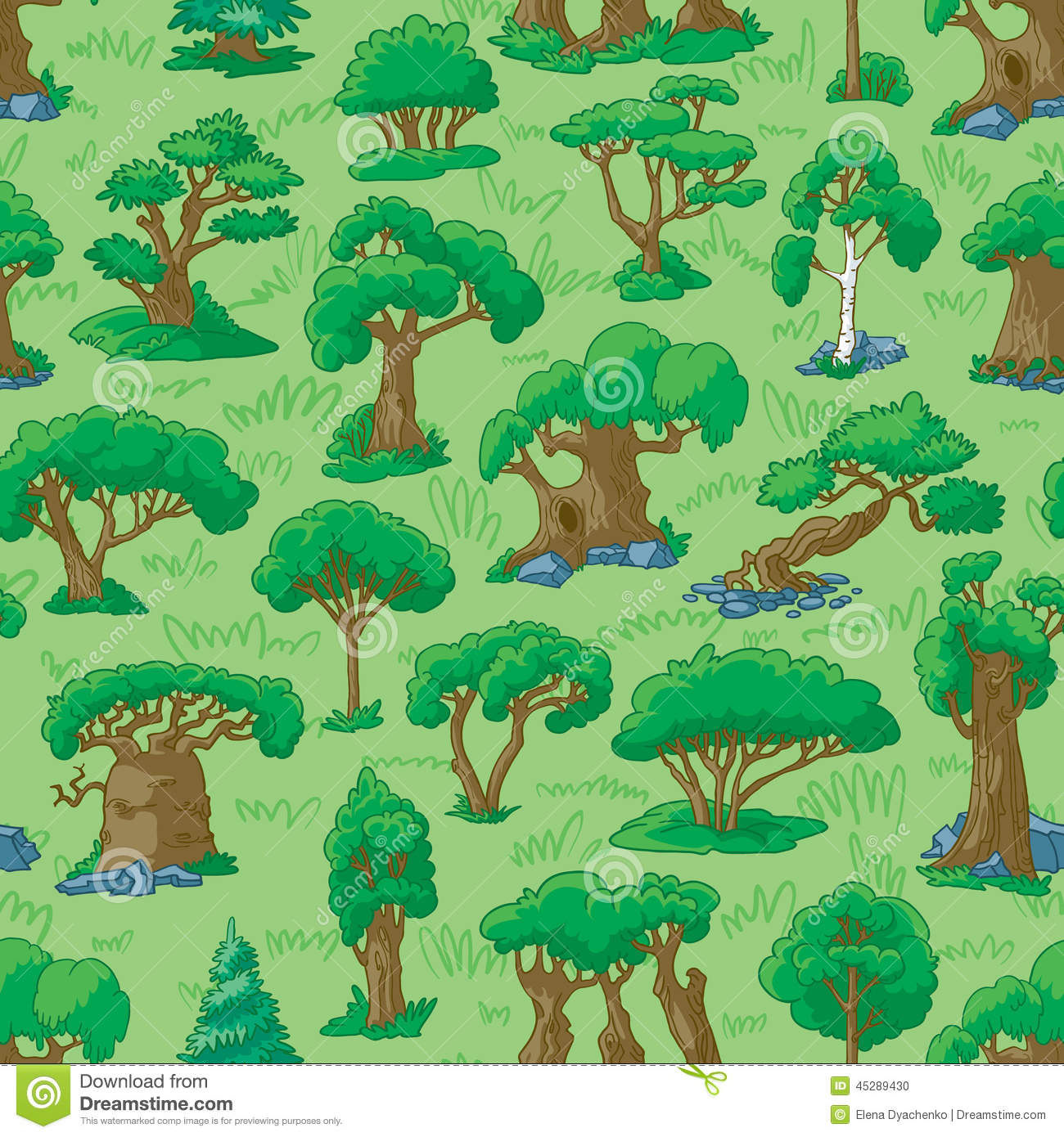 Cartoon Forest Stock Vector - Image: 45289430