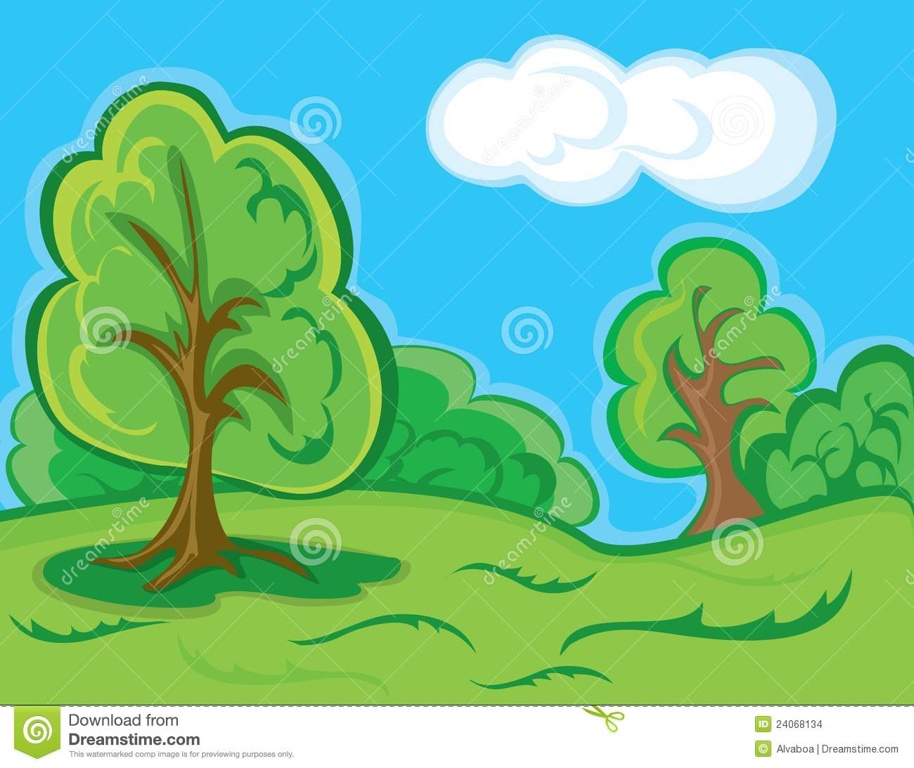 Nature Images 2mb: Cartoon Forest Landscape Stock Vector. Image Of Nature