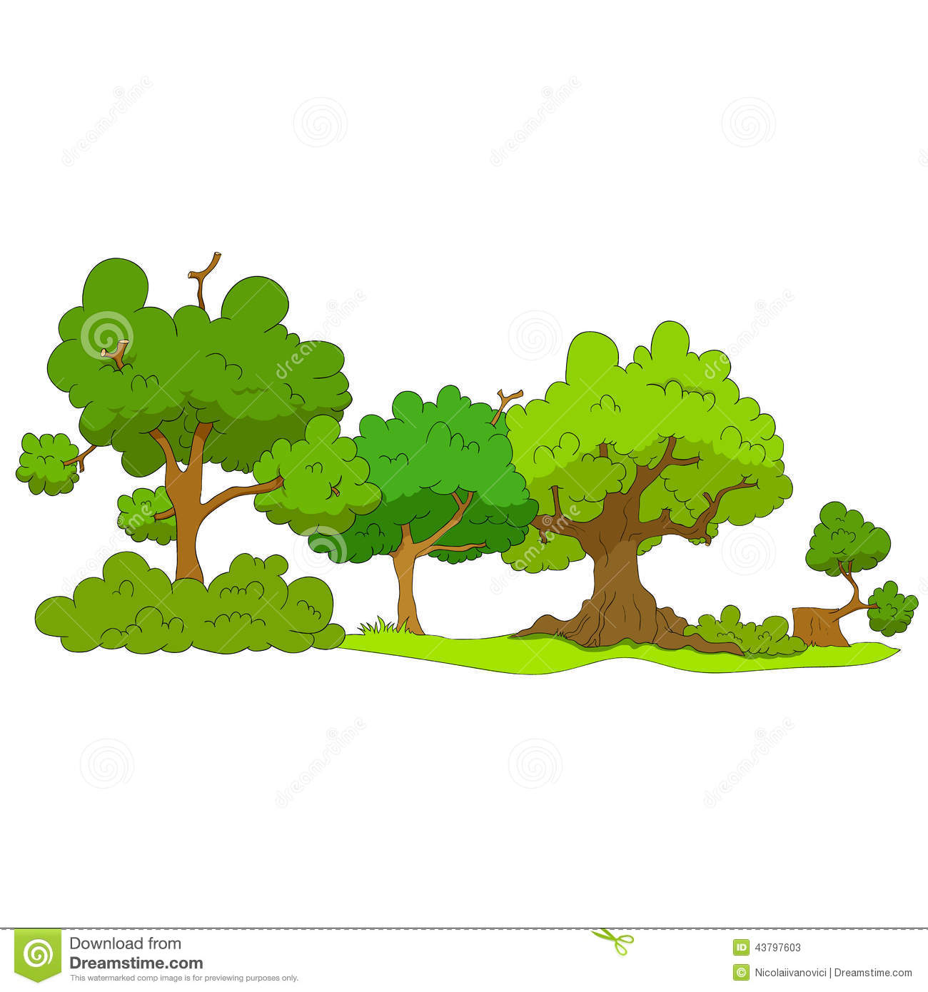 Cartoon Forest Stock Vector - Image: 43797603