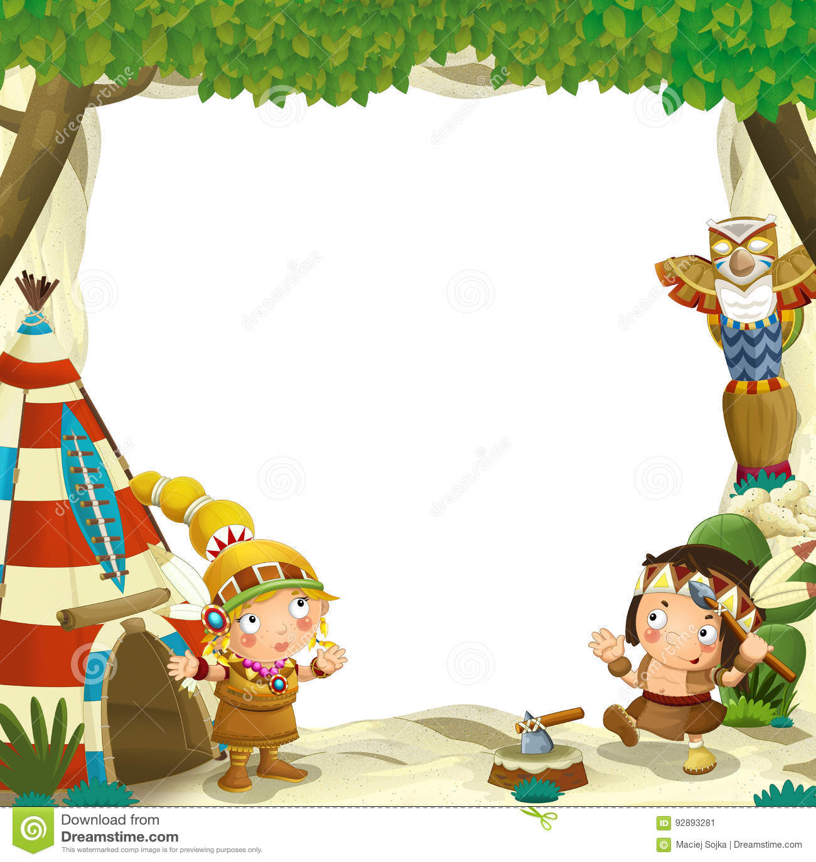 Cartoon Character Border Design : Cartoon characters border frame vector illustration