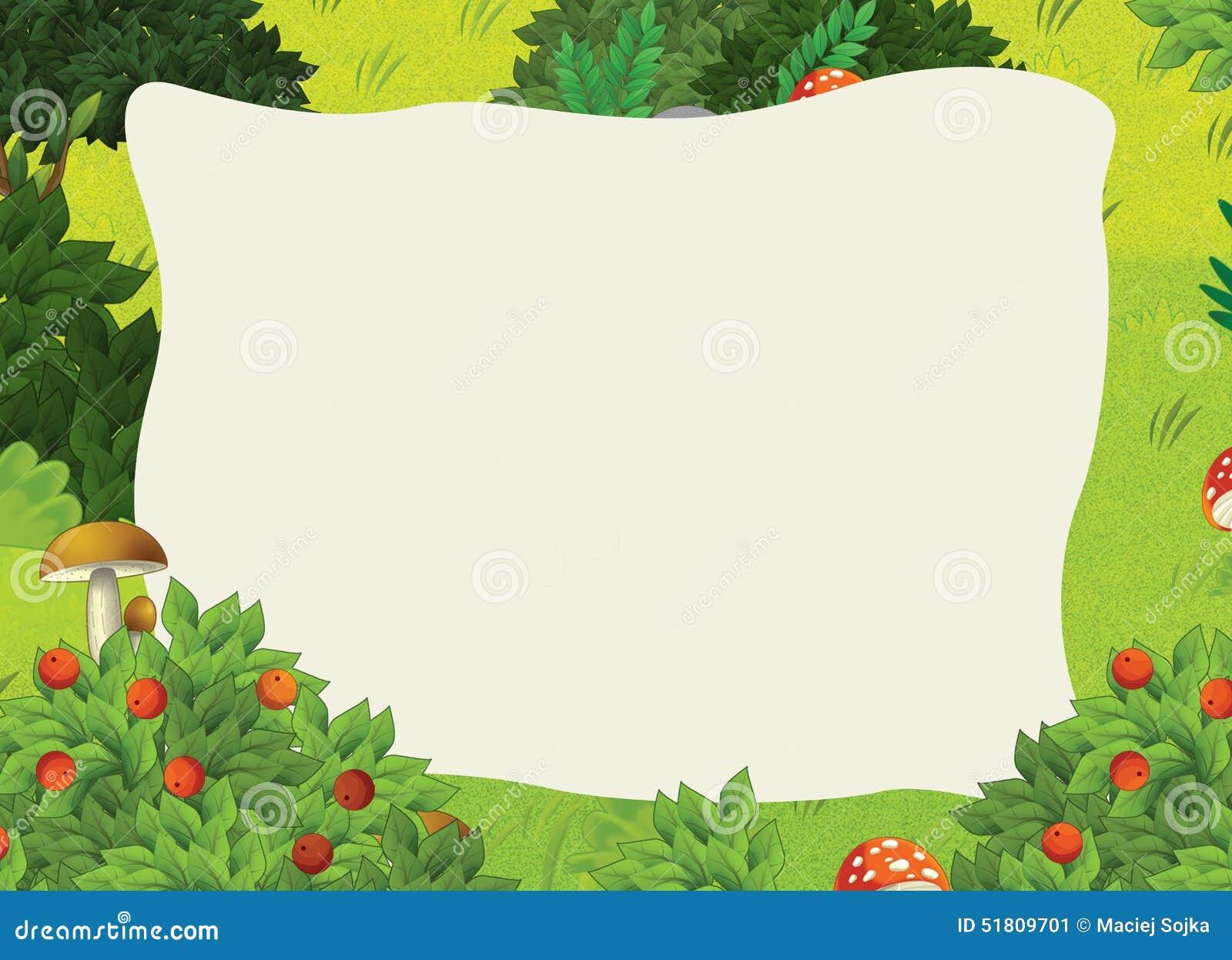 Cartoon Frame Scene - Forest Stock Illustration ...