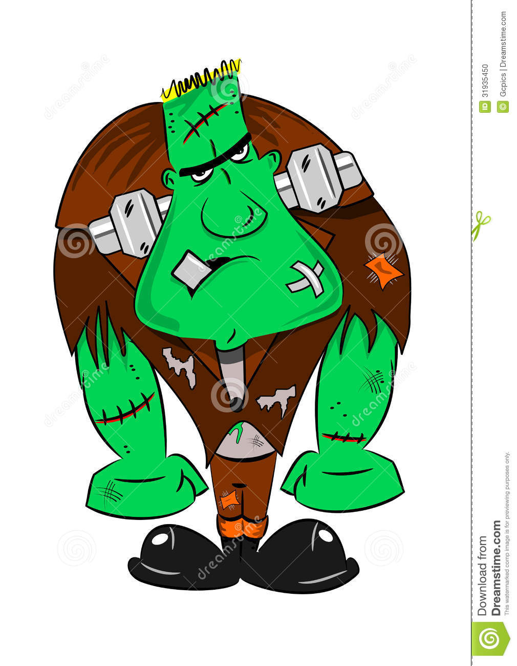 A Cartoon Frankenstein Monster Stock Vector - Illustration ...