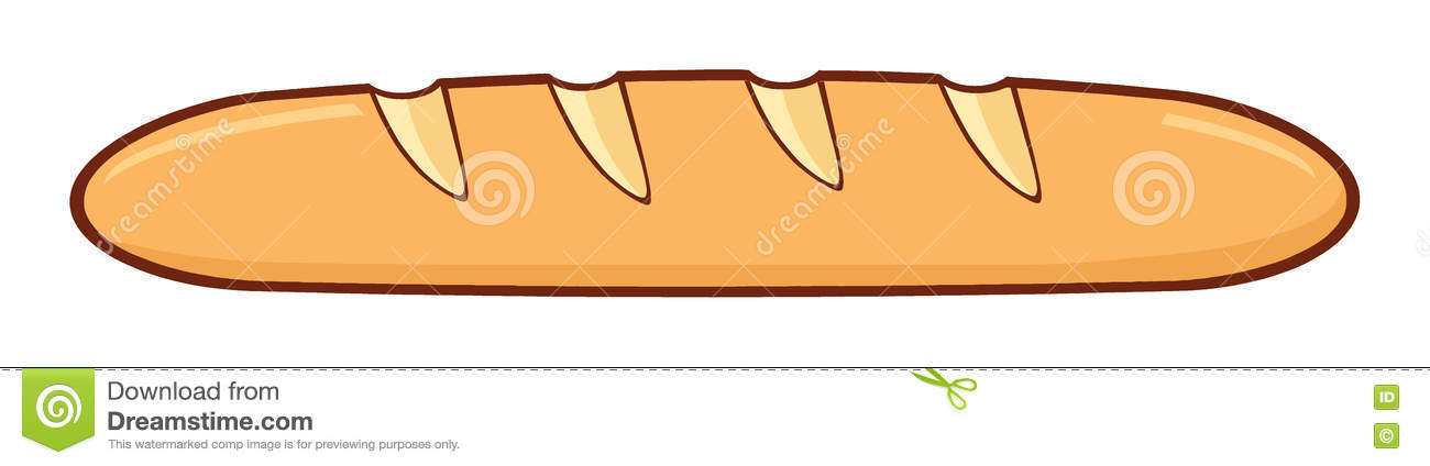 Cartoon French Bread Baguette Stock Illustration - Image ...